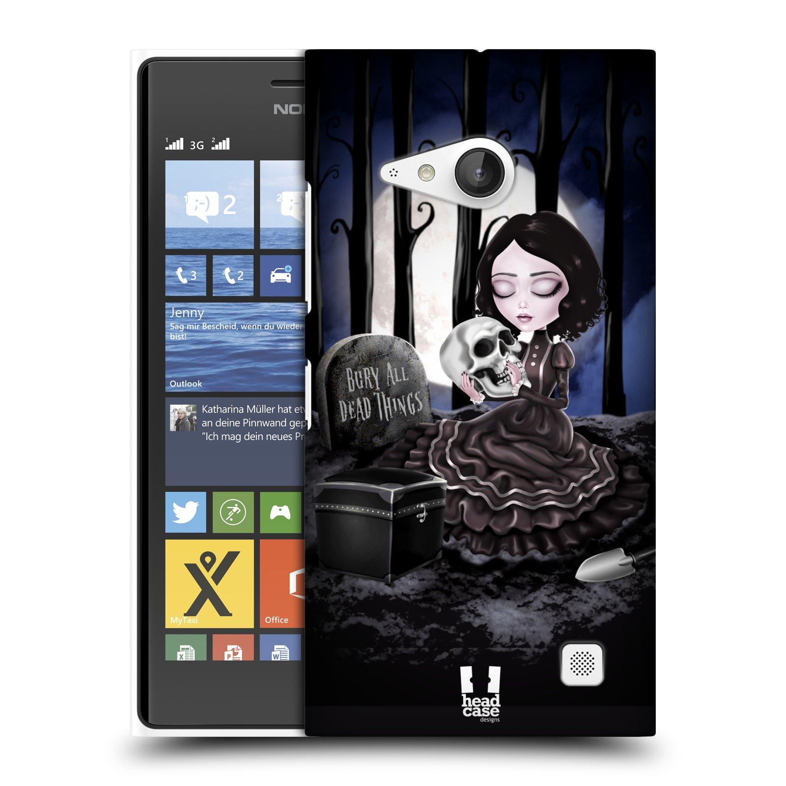 Plastové pouzdro na mobil Nokia Lumia 735 HEAD CASE MACABRE HŘBITOV
