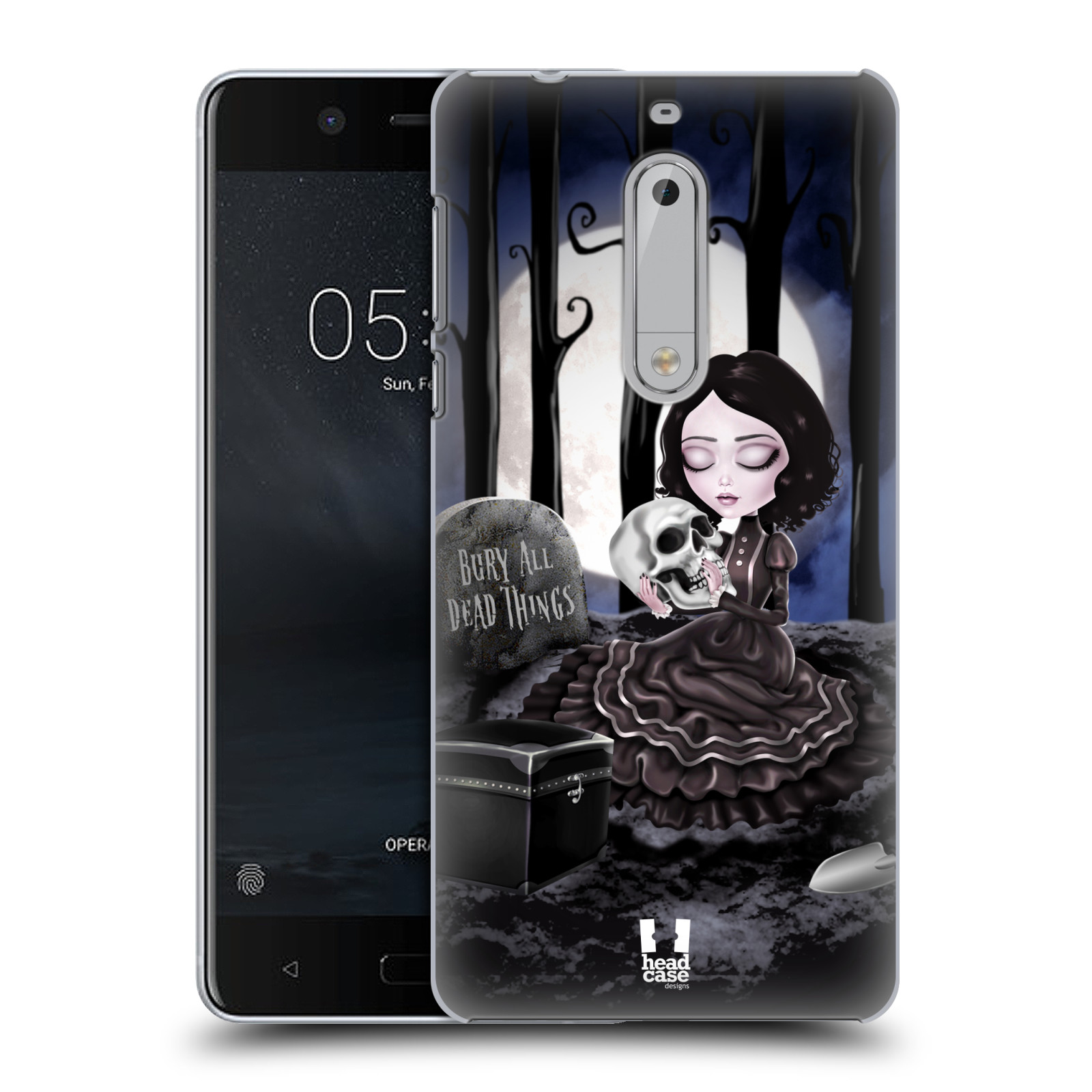 Plastové pouzdro na mobil Nokia 5 Head Case - MACABRE HŘBITOV