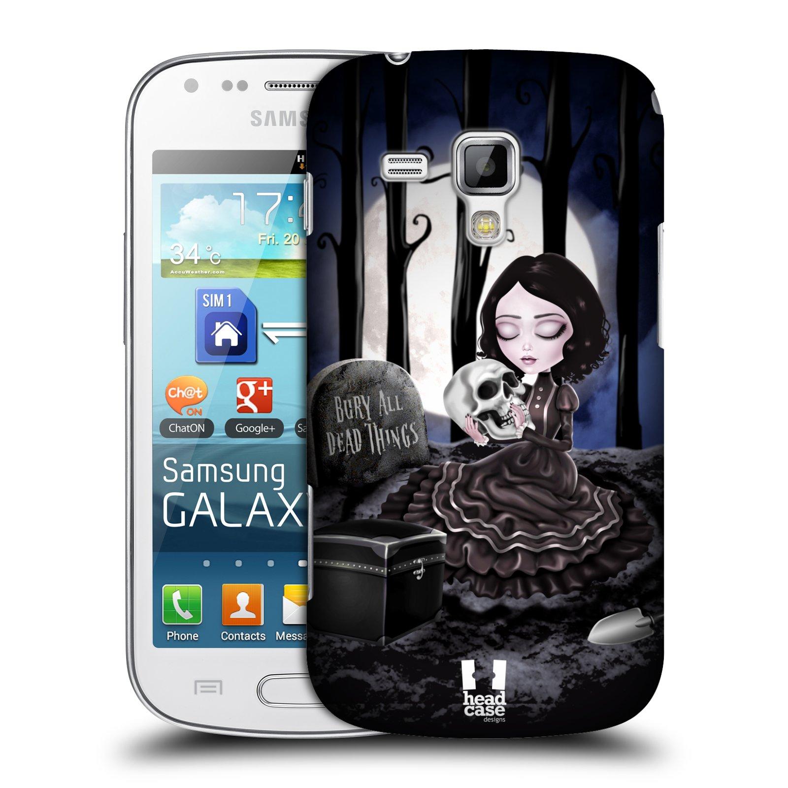 Plastové pouzdro na mobil Samsung Galaxy Trend Plus HEAD CASE MACABRE HŘBITOV (Kryt či obal na mobilní telefon Samsung Galaxy Trend Plus GT-S7580)