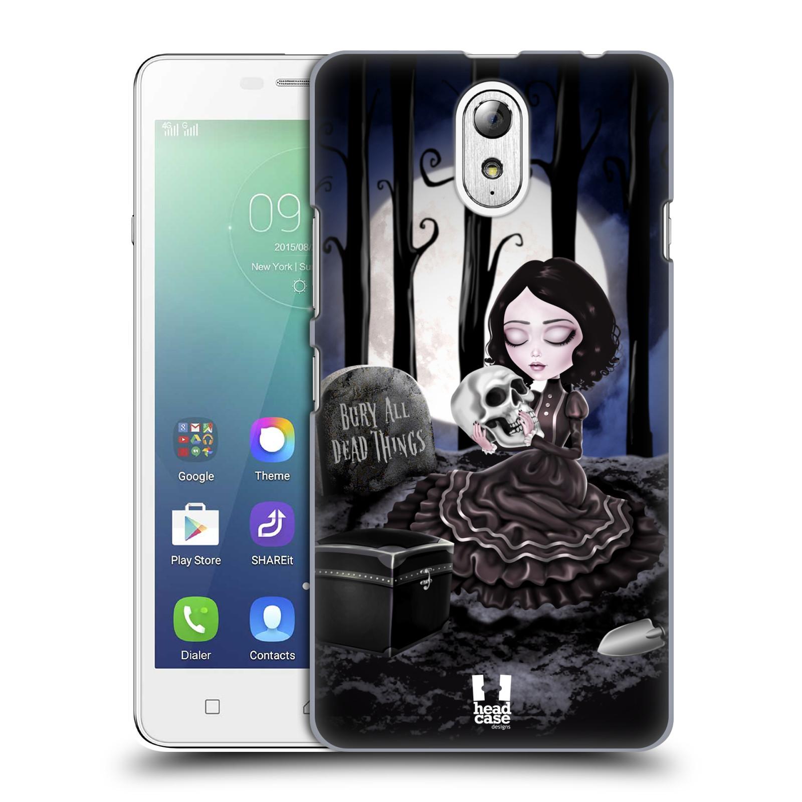Plastové pouzdro na mobil Lenovo Vibe P1m HEAD CASE MACABRE HŘBITOV