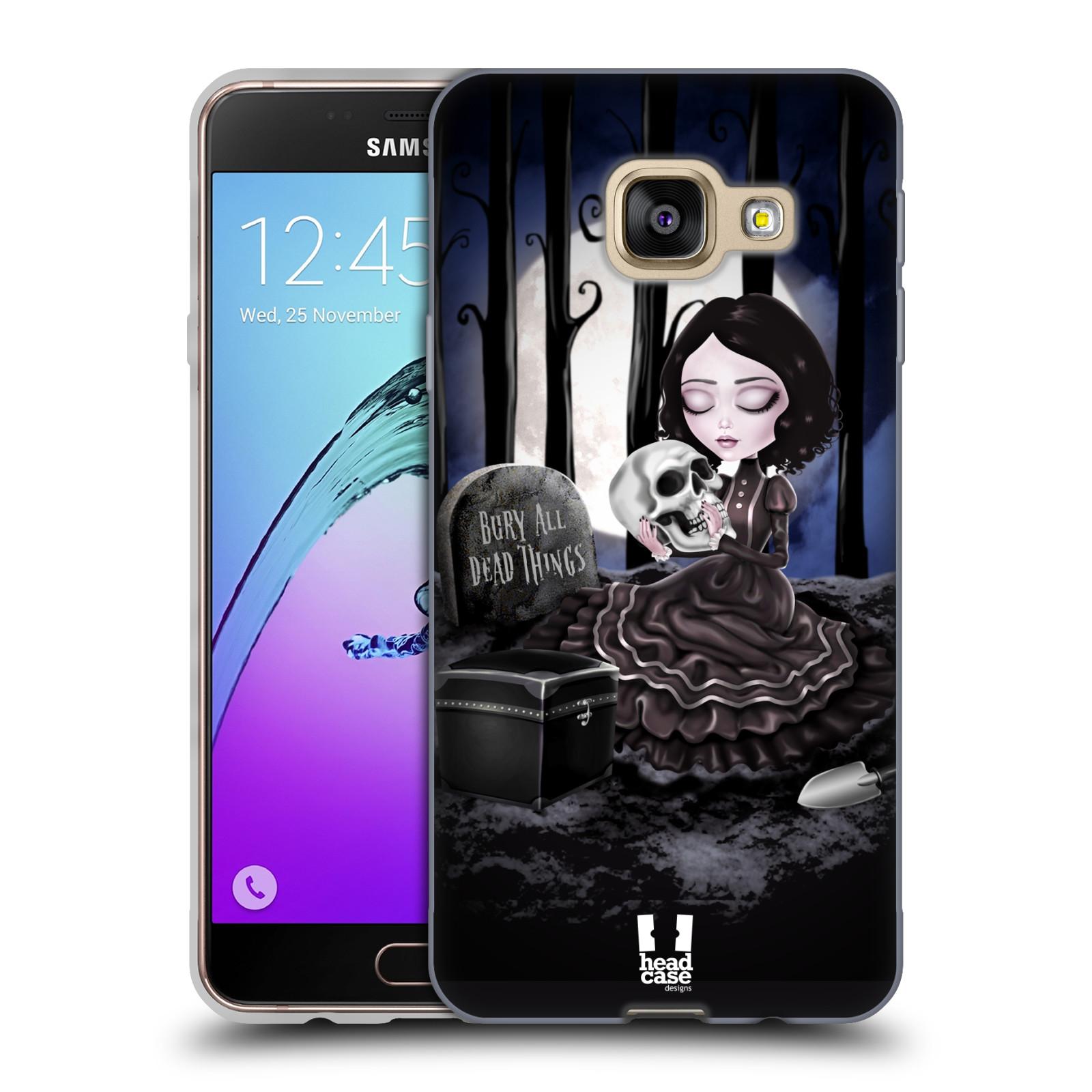 Silikonové pouzdro na mobil Samsung Galaxy A3 (2016) HEAD CASE MACABRE HŘBITOV