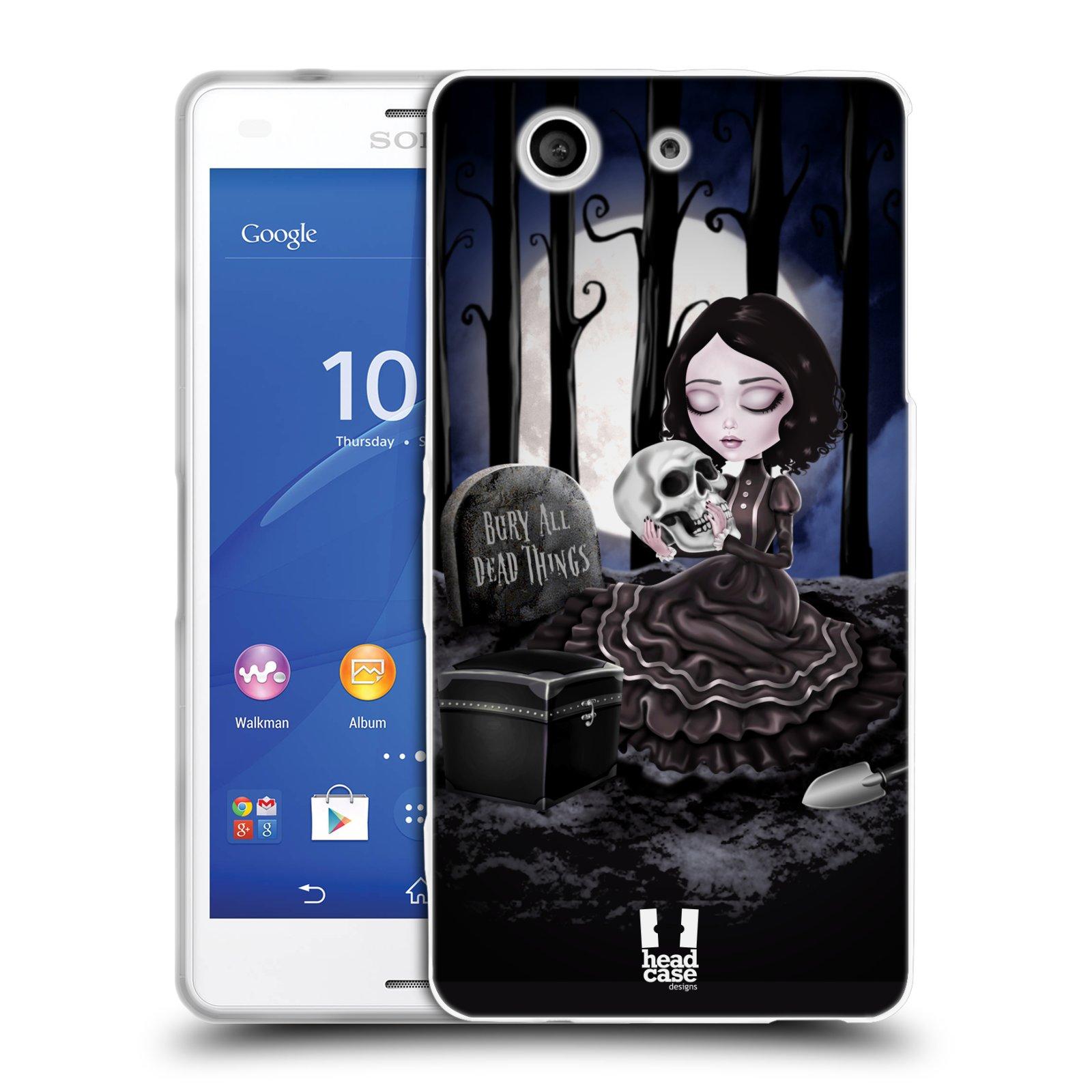 Silikonové pouzdro na mobil Sony Xperia Z3 Compact D5803 HEAD CASE MACABRE HŘBITOV