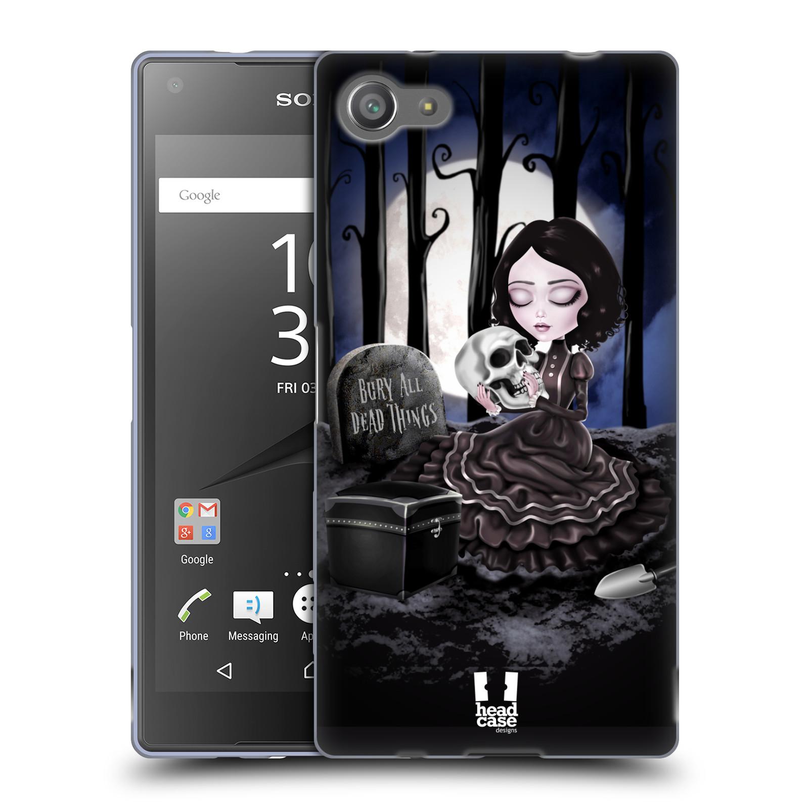 Silikonové pouzdro na mobil Sony Xperia Z5 Compact HEAD CASE MACABRE HŘBITOV