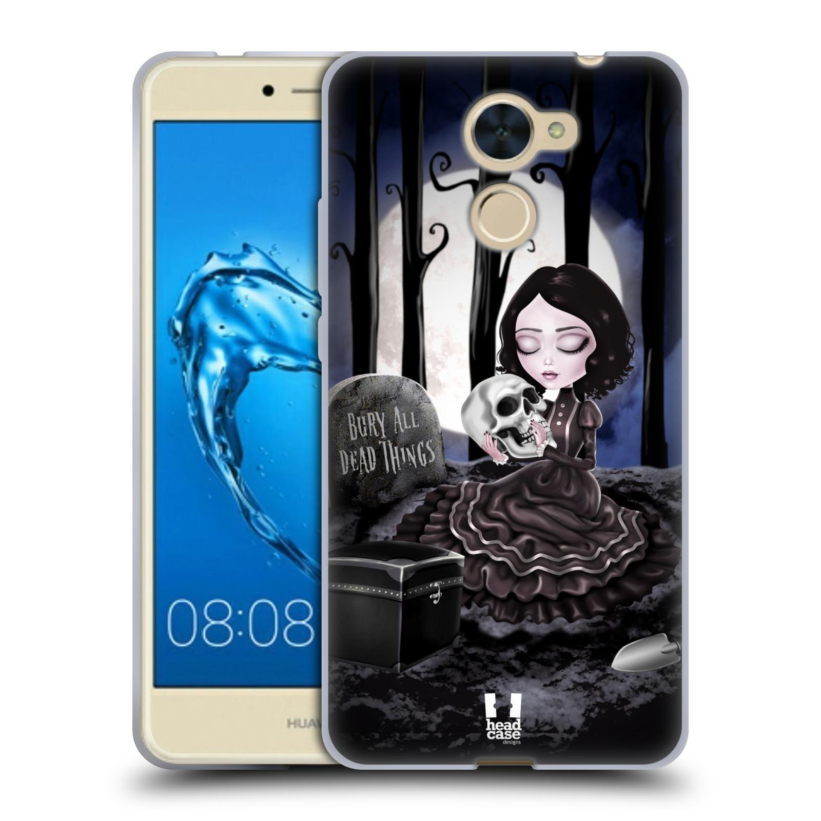 Silikonové pouzdro na mobil Huawei Y7 - Head Case - MACABRE HŘBITOV