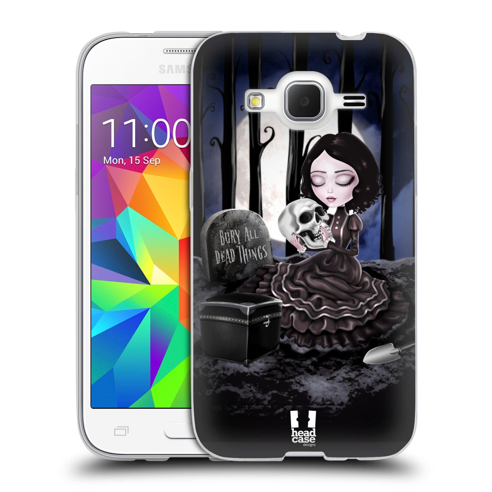 Silikonové pouzdro na mobil Samsung Galaxy Core Prime LTE HEAD CASE MACABRE HŘBITOV