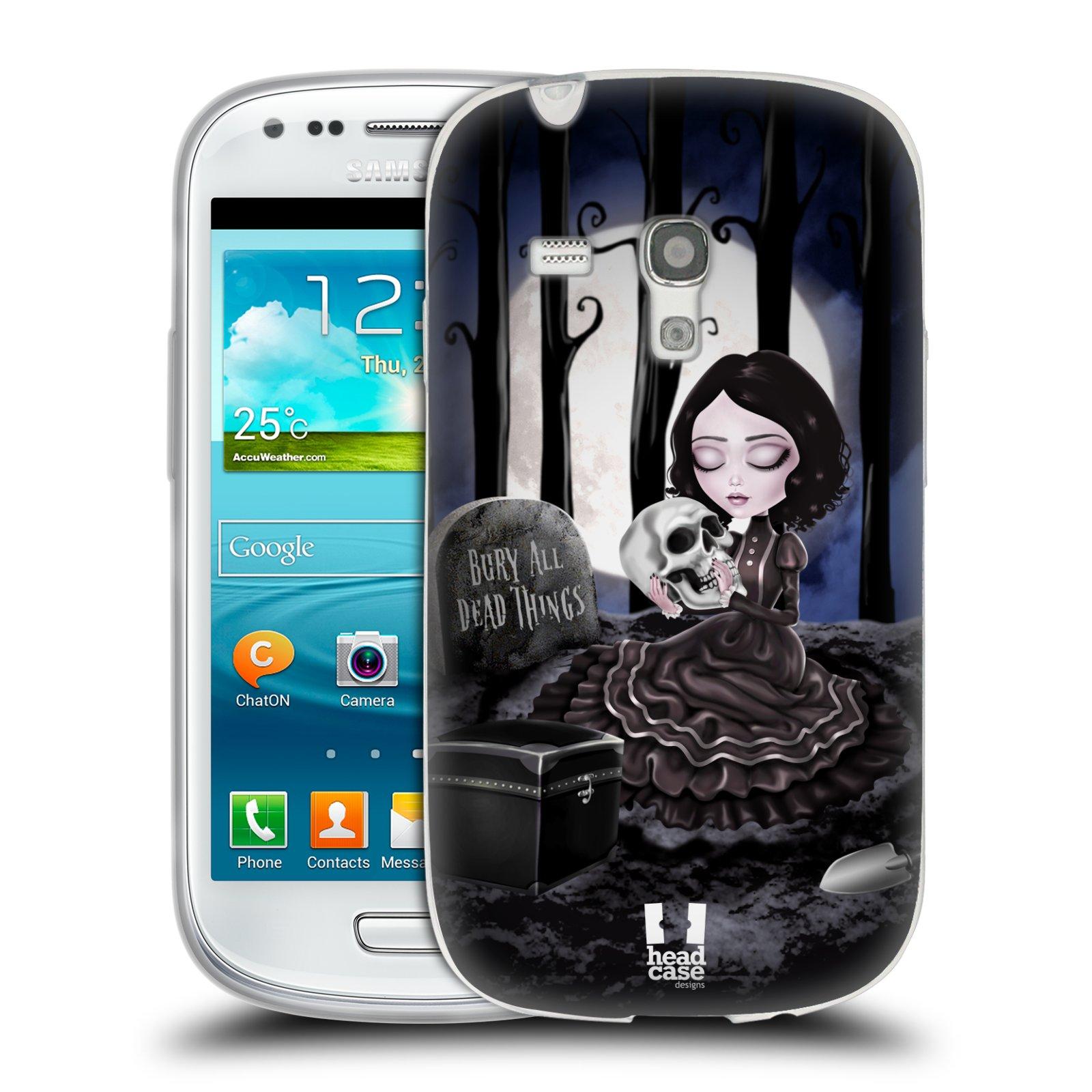 Silikonové pouzdro na mobil Samsung Galaxy S III Mini HEAD CASE MACABRE HŘBITOV (Silikonový kryt či obal na mobilní telefon Samsung Galaxy S III Mini GT-i8190)