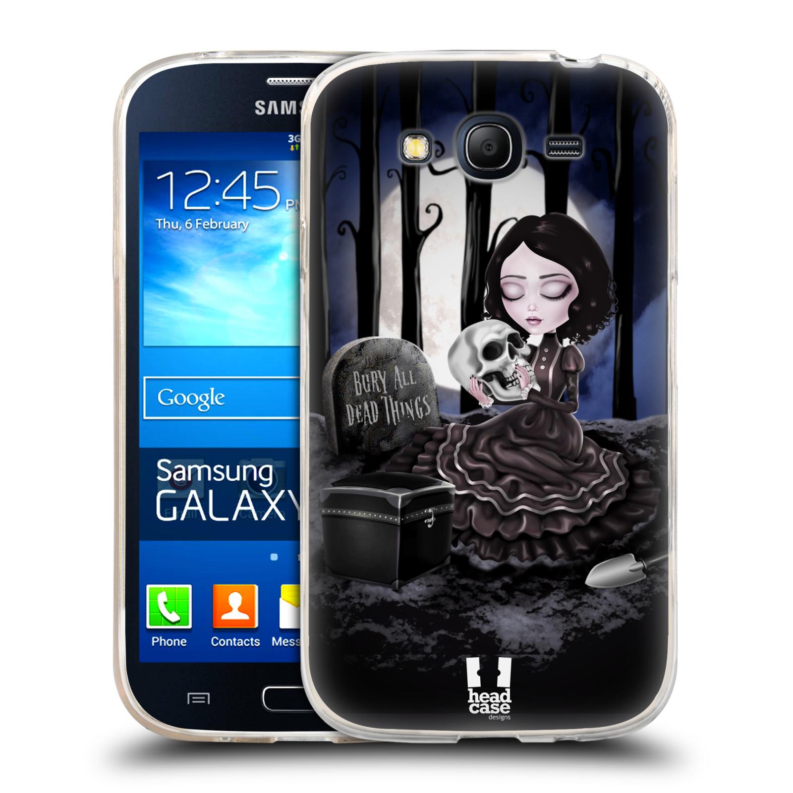 Silikonové pouzdro na mobil Samsung Galaxy Grand Neo Plus HEAD CASE MACABRE HŘBITOV