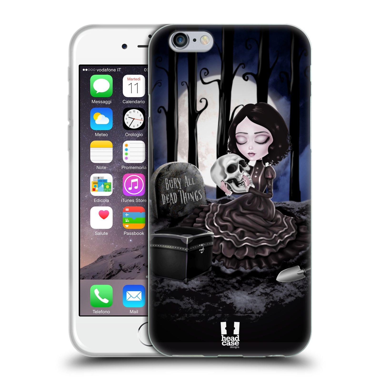 Silikonové pouzdro na mobil Apple iPhone 6 a 6S HEAD CASE MACABRE HŘBITOV
