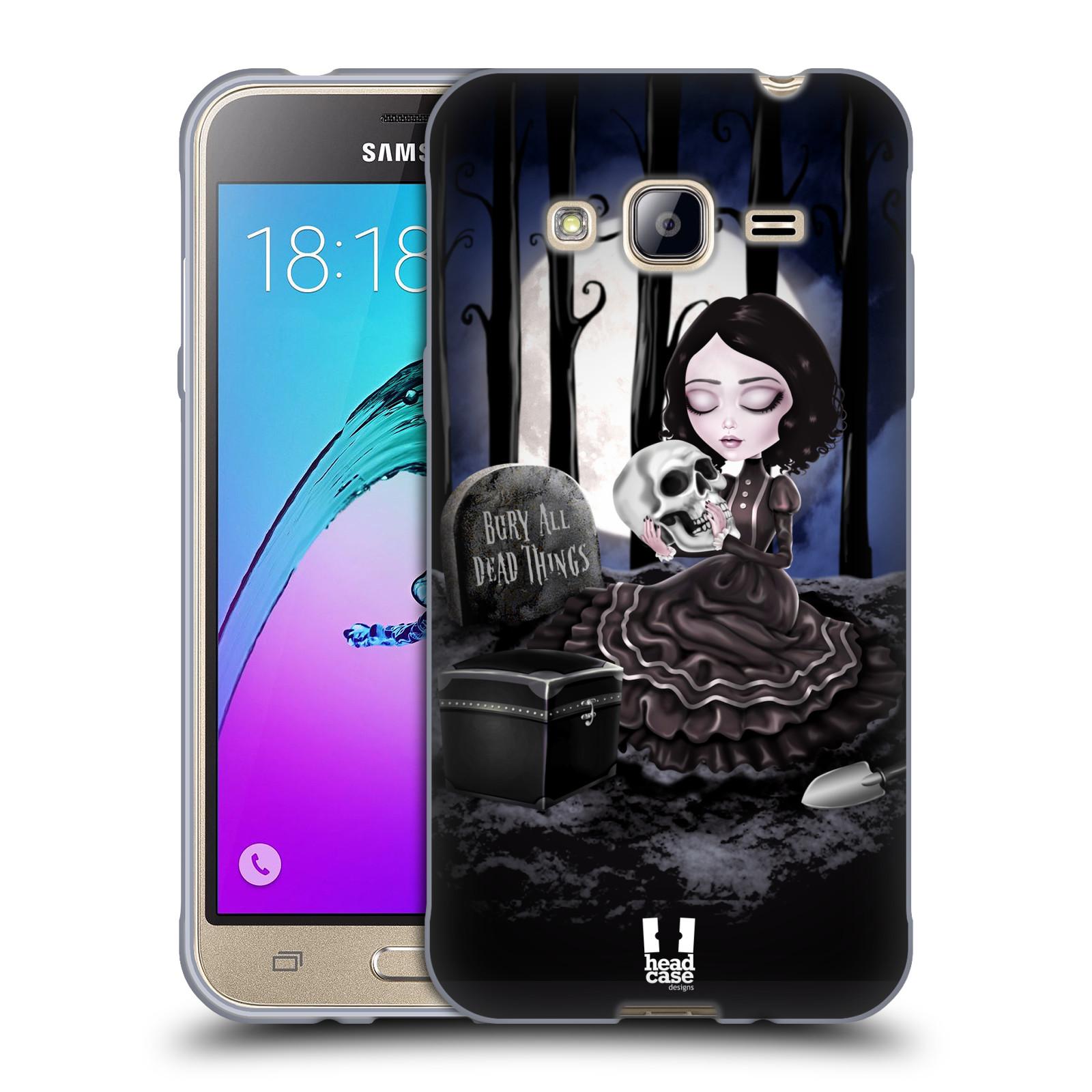 Silikonové pouzdro na mobil Samsung Galaxy J3 (2016) HEAD CASE MACABRE HŘBITOV