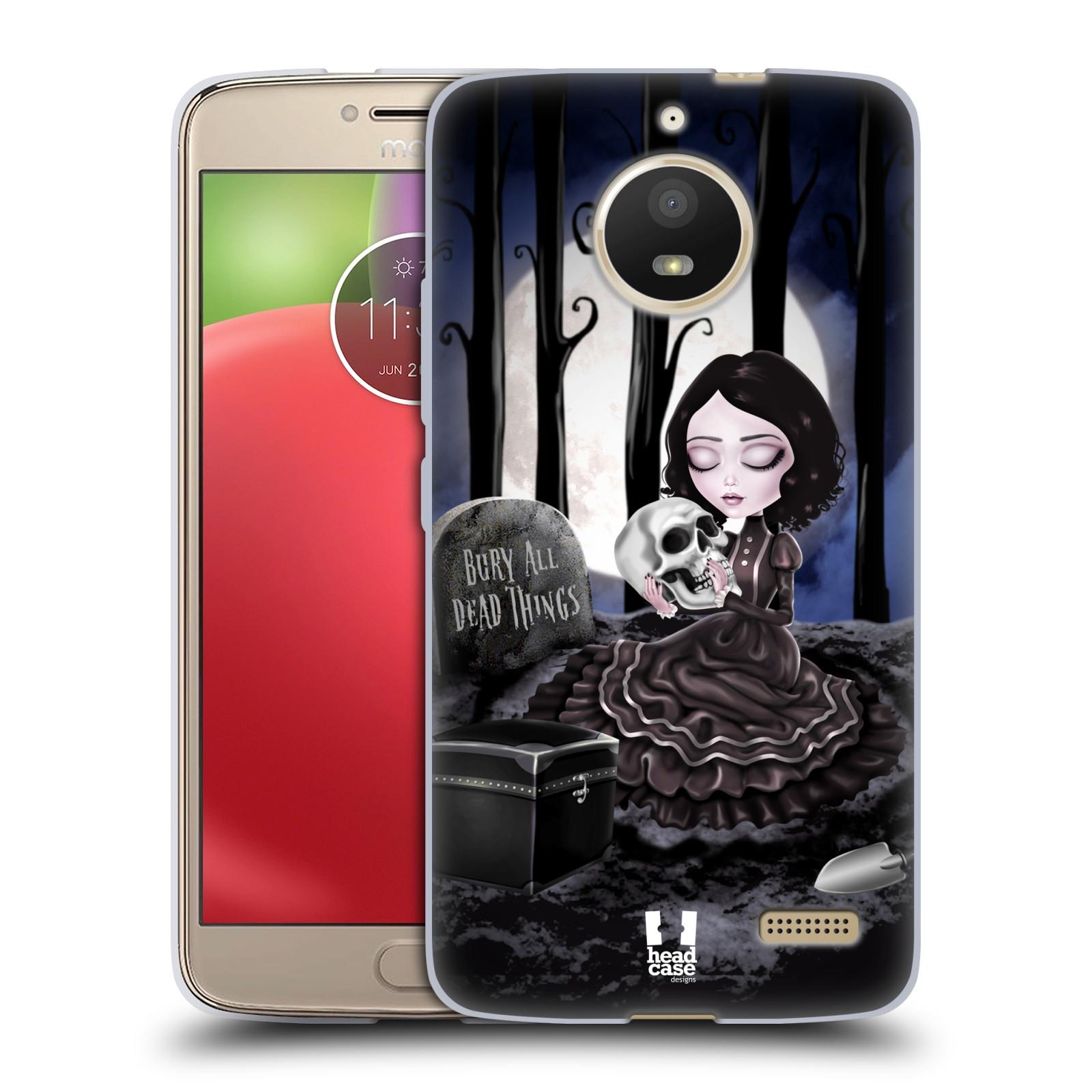 Silikonové pouzdro na mobil Lenovo Moto E4 - Head Case - MACABRE HŘBITOV