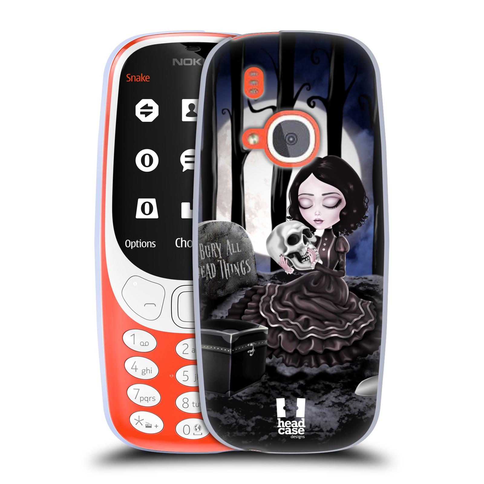 Silikonové pouzdro na mobil Nokia 3310 - Head Case - MACABRE HŘBITOV