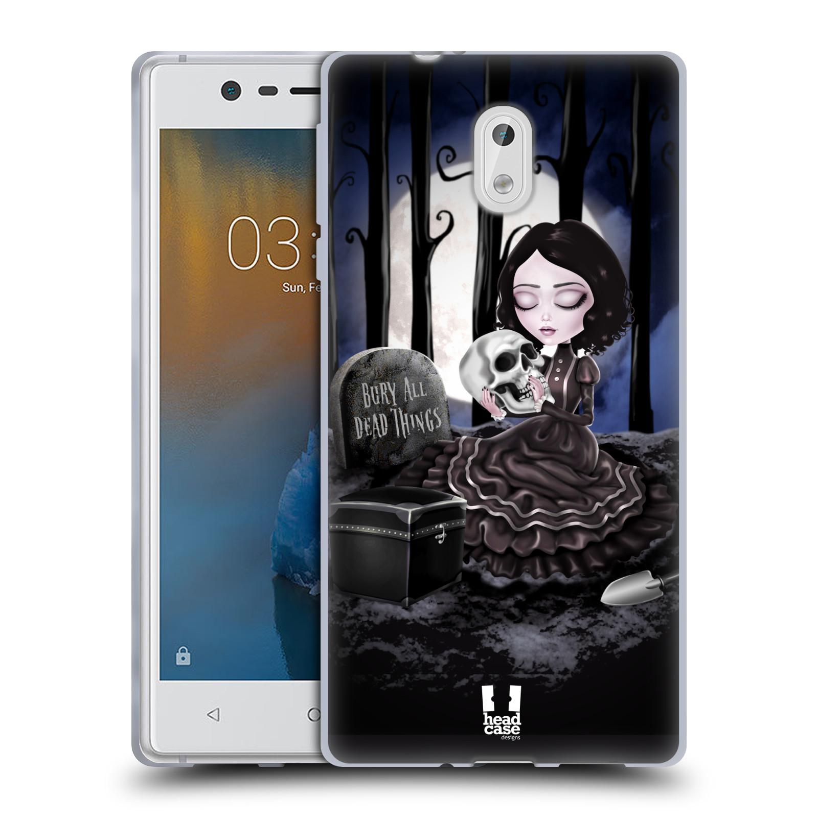 Silikonové pouzdro na mobil Nokia 3 Head Case - MACABRE HŘBITOV