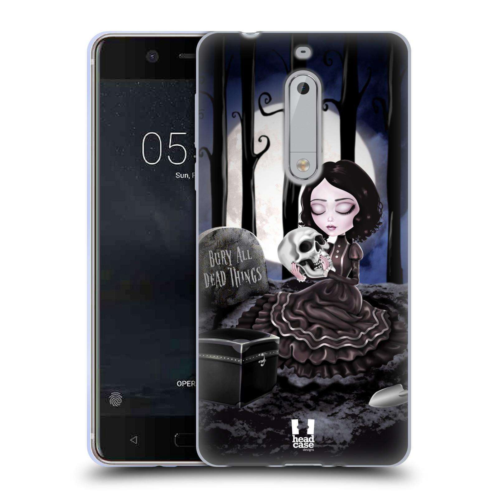 Silikonové pouzdro na mobil Nokia 5 Head Case - MACABRE HŘBITOV