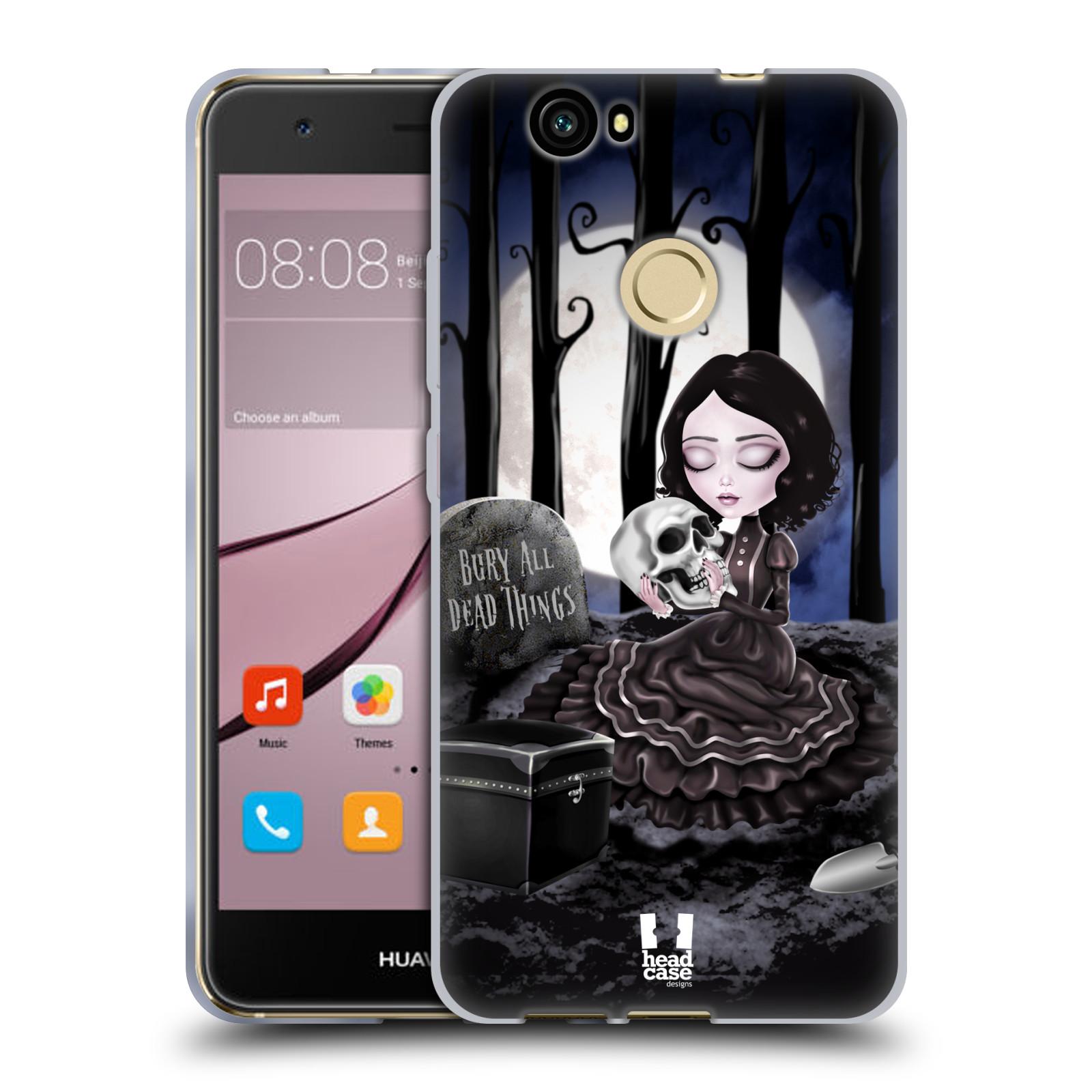 Silikonové pouzdro na mobil Huawei Nova - Head Case - MACABRE HŘBITOV