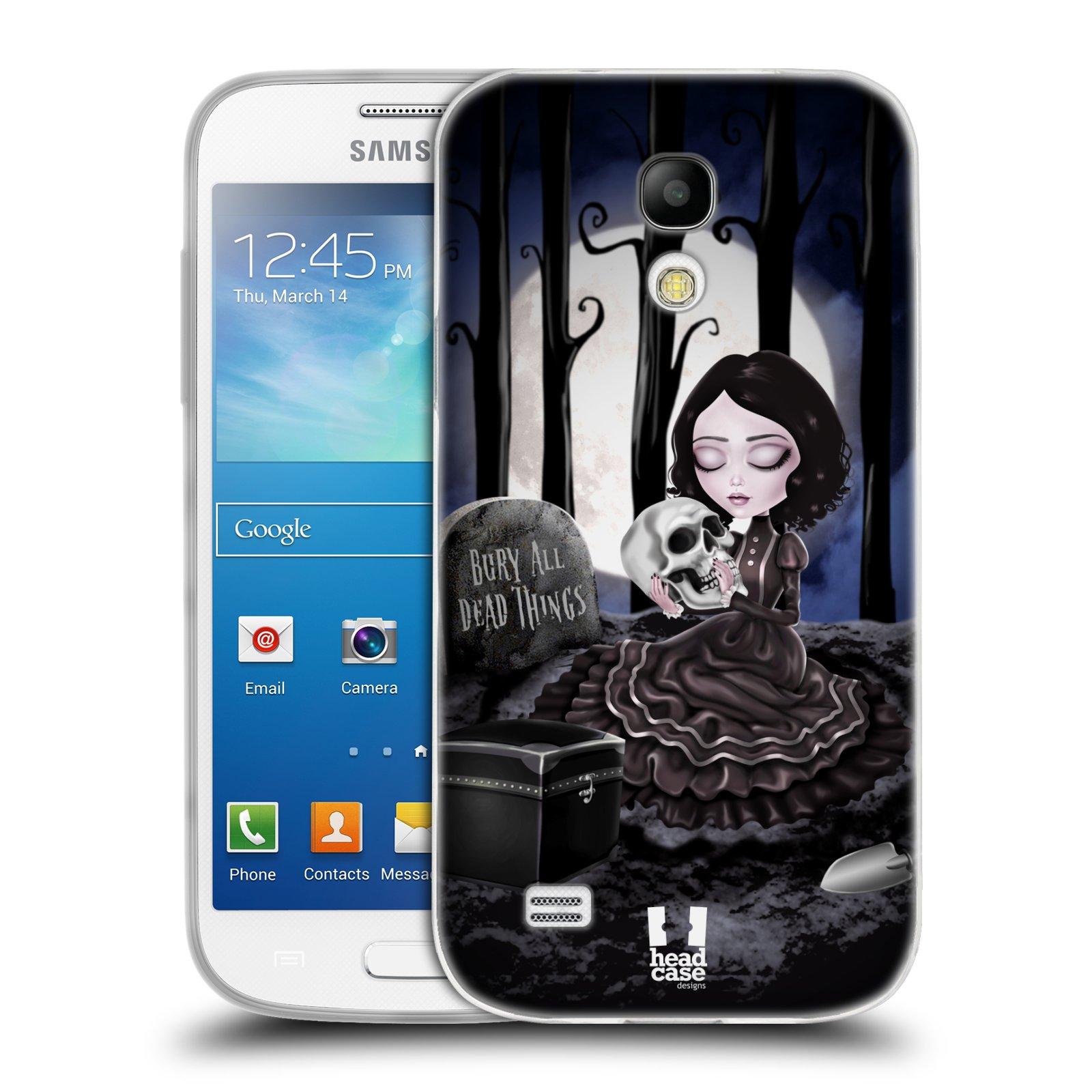 Silikonové pouzdro na mobil Samsung Galaxy S4 Mini HEAD CASE MACABRE HŘBITOV