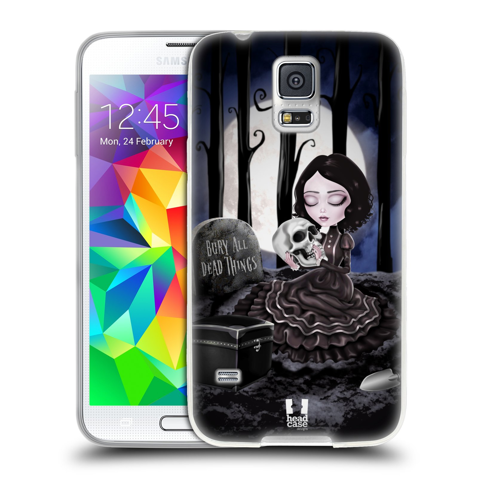 Silikonové pouzdro na mobil Samsung Galaxy S5 HEAD CASE MACABRE HŘBITOV