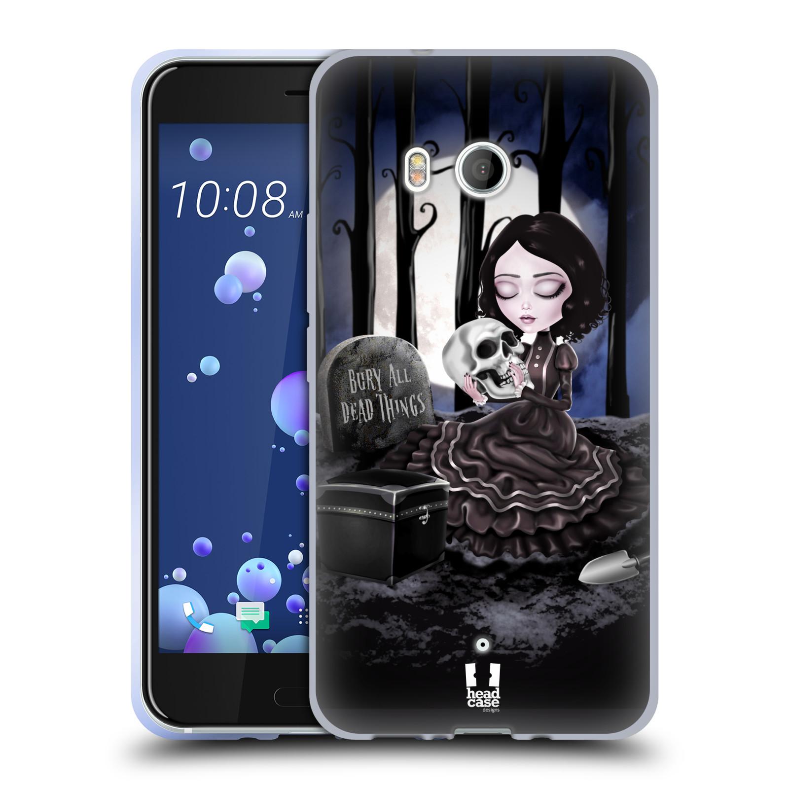 Silikonové pouzdro na mobil HTC U11 - Head Case - MACABRE HŘBITOV