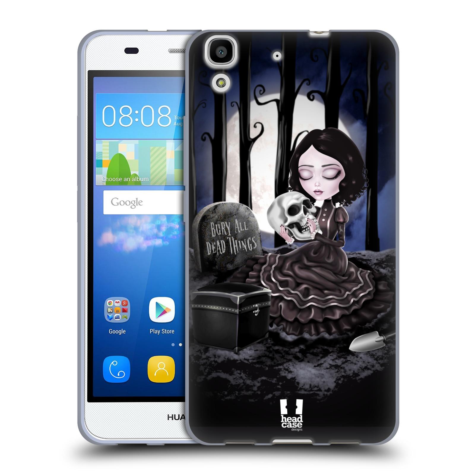 Silikonové pouzdro na mobil Huawei Y6 HEAD CASE MACABRE HŘBITOV