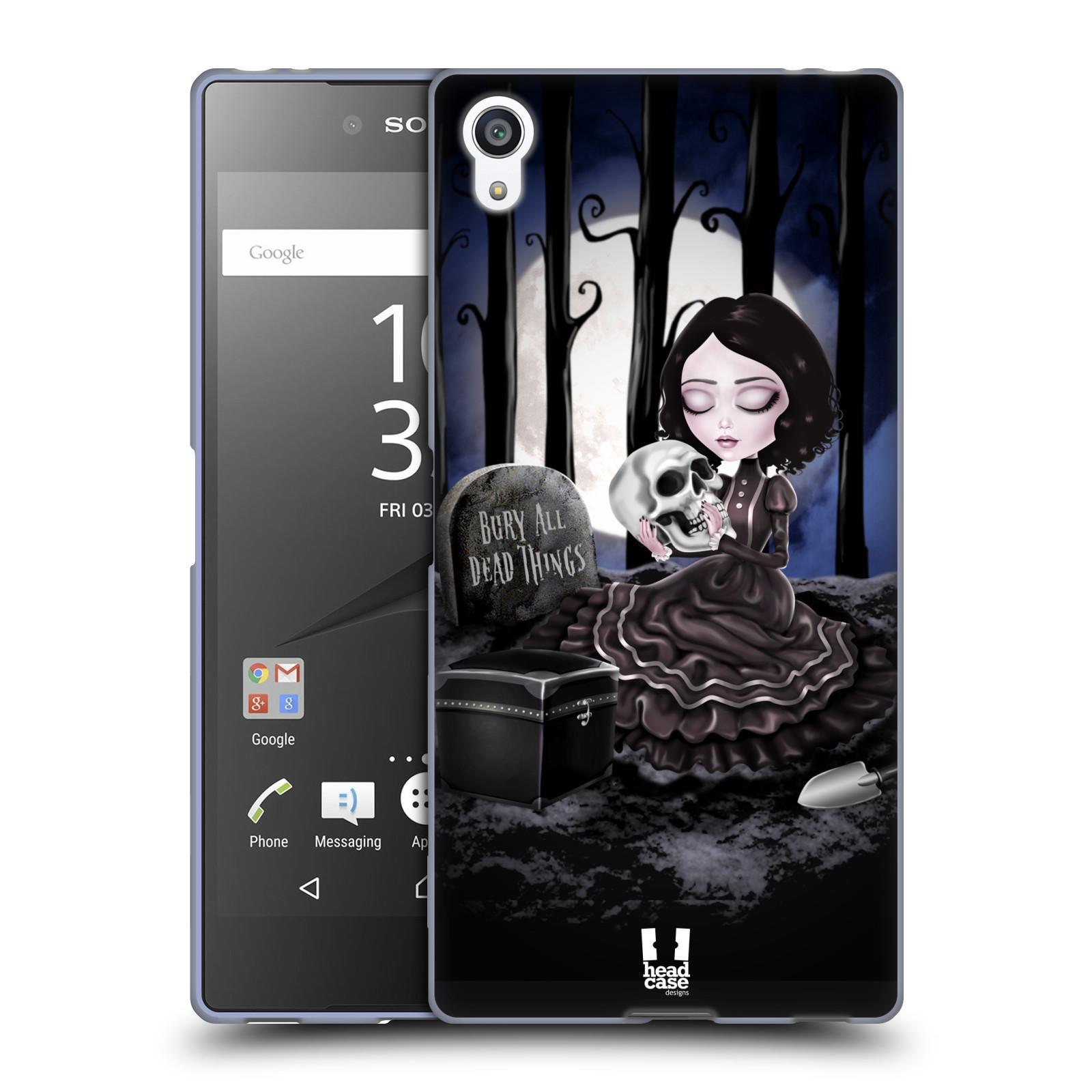 Silikonové pouzdro na mobil Sony Xperia Z5 Premium HEAD CASE MACABRE HŘBITOV