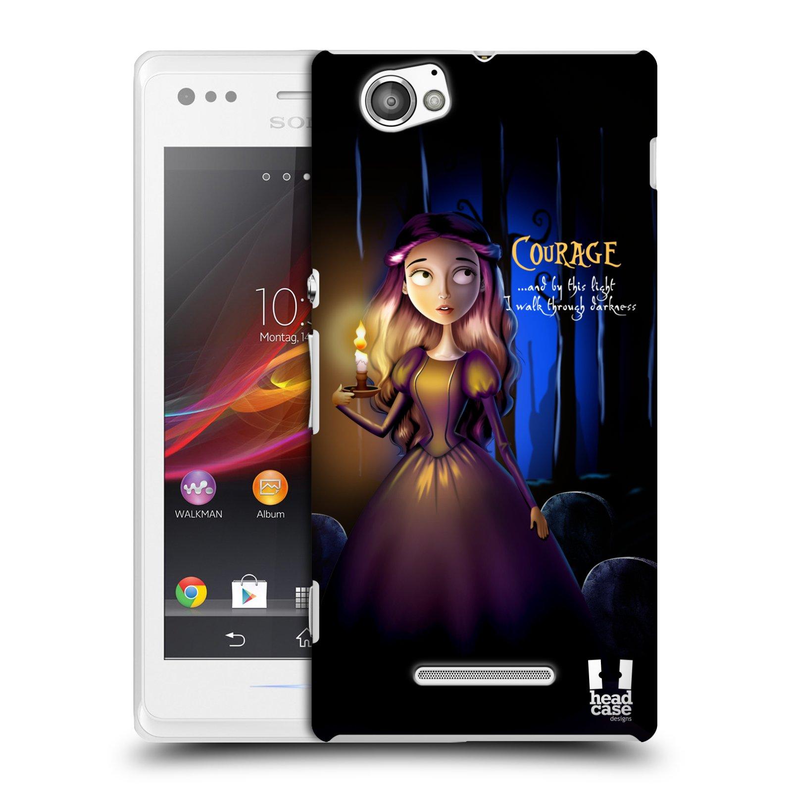 Plastové pouzdro na mobil Sony Xperia M C1905 HEAD CASE MACABRE COURAGE