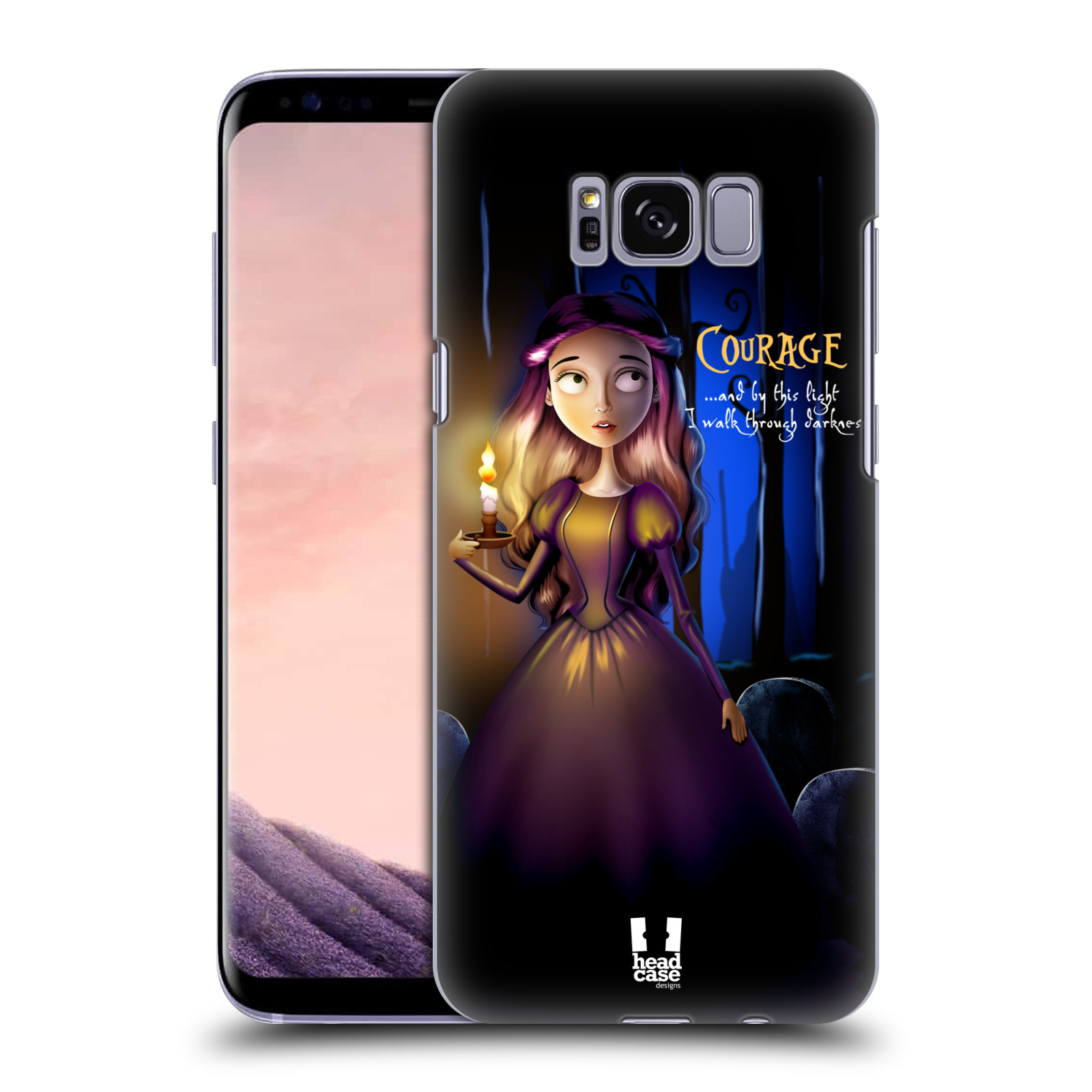 Plastové pouzdro na mobil Samsung Galaxy S8 Head Case MACABRE COURAGE