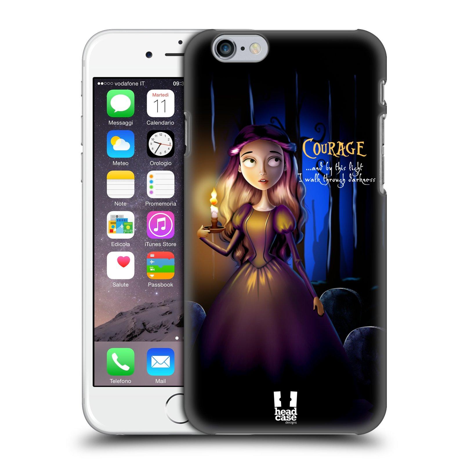 Plastové pouzdro na mobil Apple iPhone 6 a 6S HEAD CASE MACABRE COURAGE