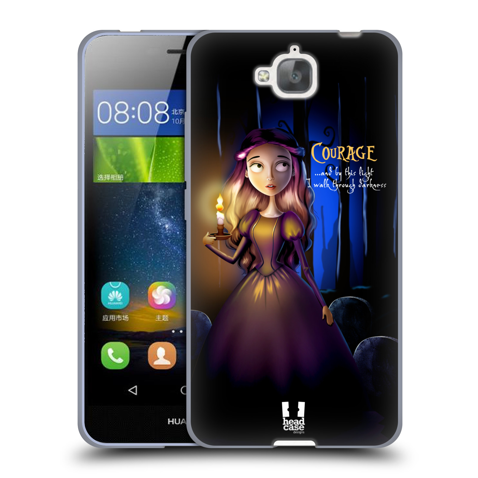 Silikonové pouzdro na mobil Huawei Y6 Pro Dual Sim HEAD CASE MACABRE COURAGE