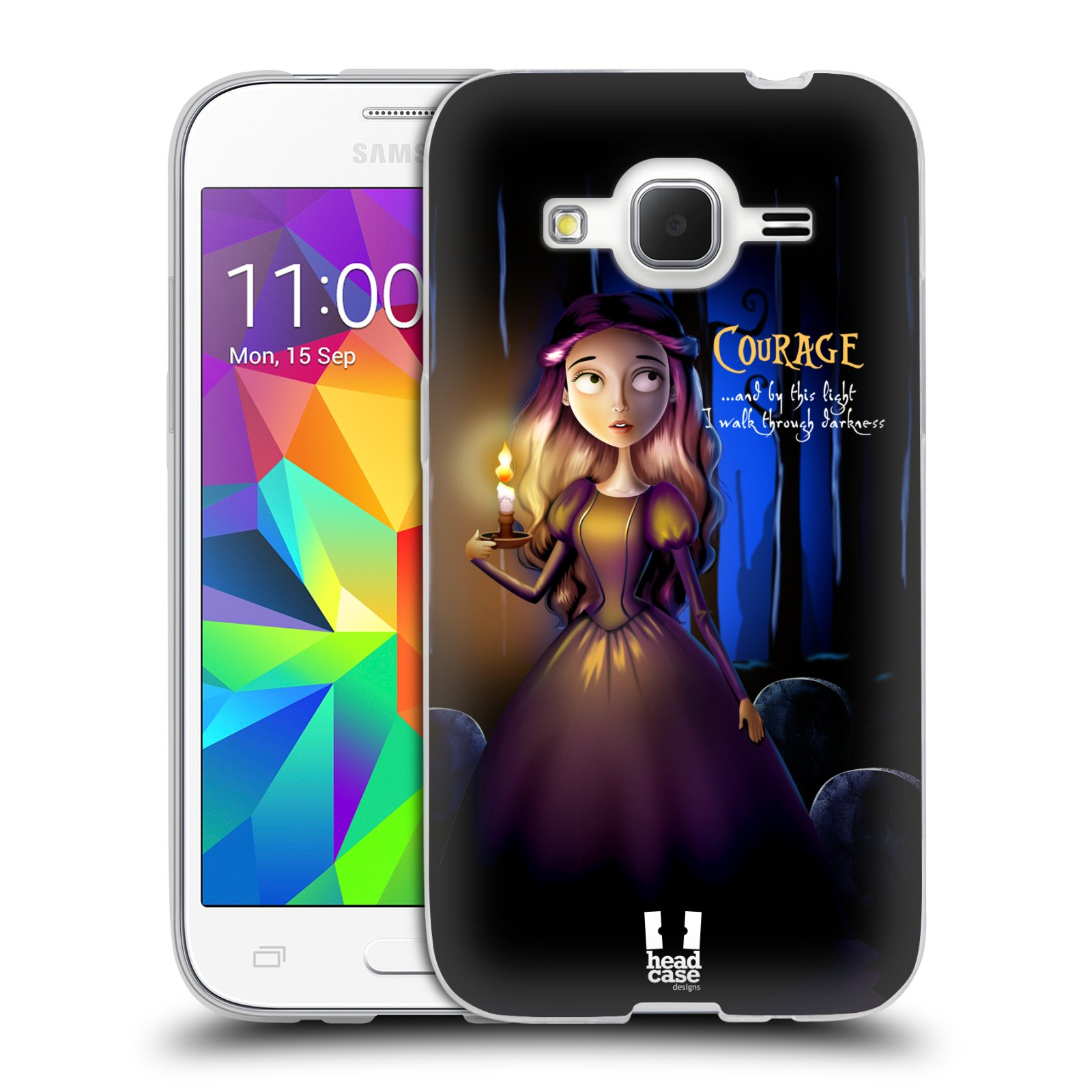 Silikonové pouzdro na mobil Samsung Galaxy Core Prime VE HEAD CASE MACABRE COURAGE