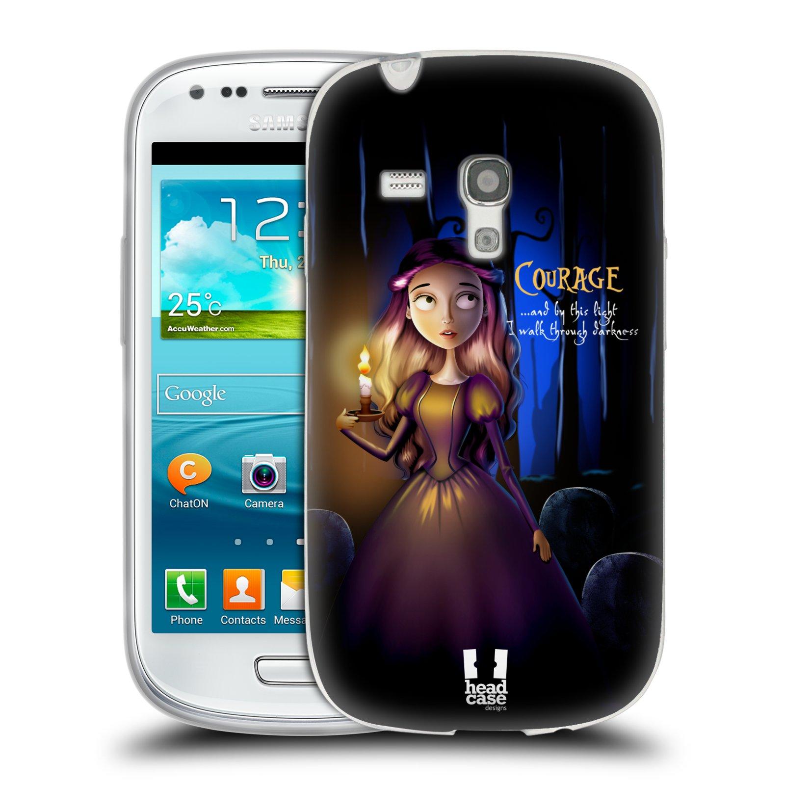 Silikonové pouzdro na mobil Samsung Galaxy S III Mini HEAD CASE MACABRE COURAGE (Silikonový kryt či obal na mobilní telefon Samsung Galaxy S III Mini GT-i8190)