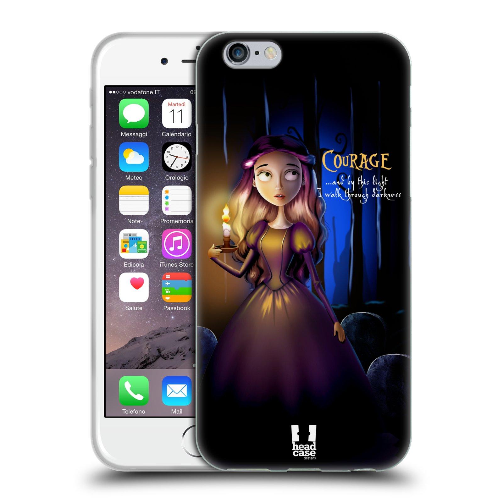 Silikonové pouzdro na mobil Apple iPhone 6 a 6S HEAD CASE MACABRE COURAGE