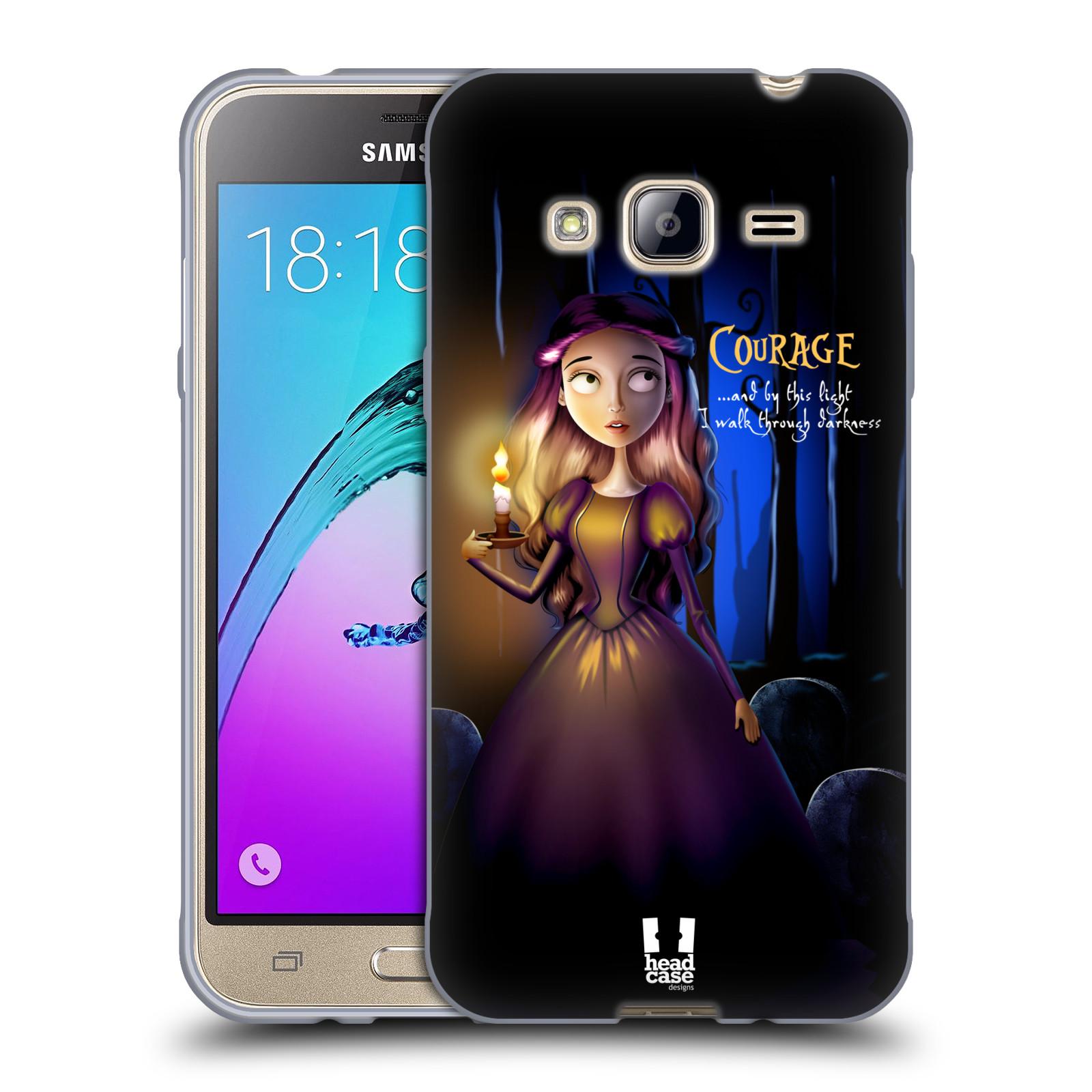 Silikonové pouzdro na mobil Samsung Galaxy J3 (2016) HEAD CASE MACABRE COURAGE