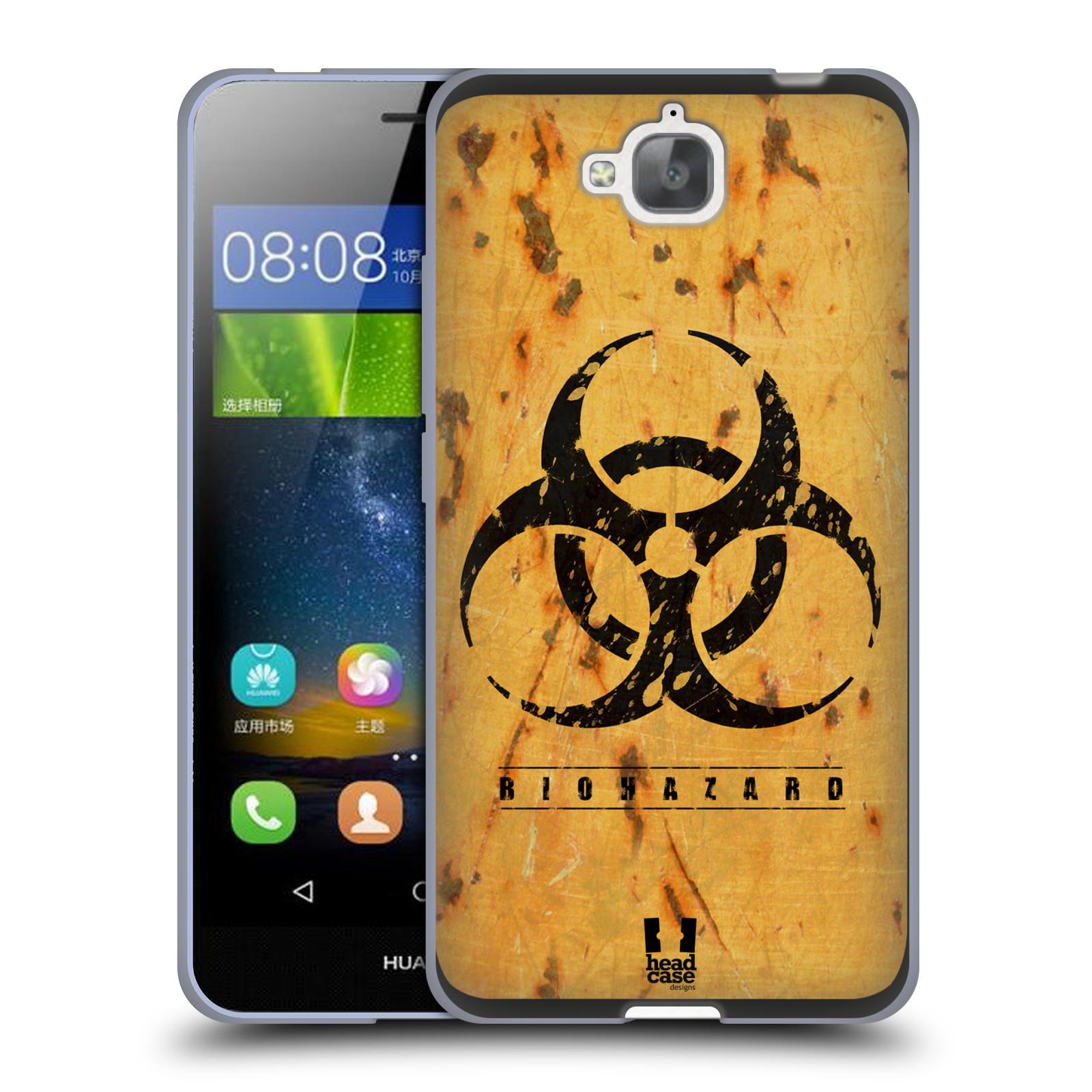 Silikonové pouzdro na mobil Huawei Y6 Pro Dual Sim HEAD CASE BIOHAZARD REZ