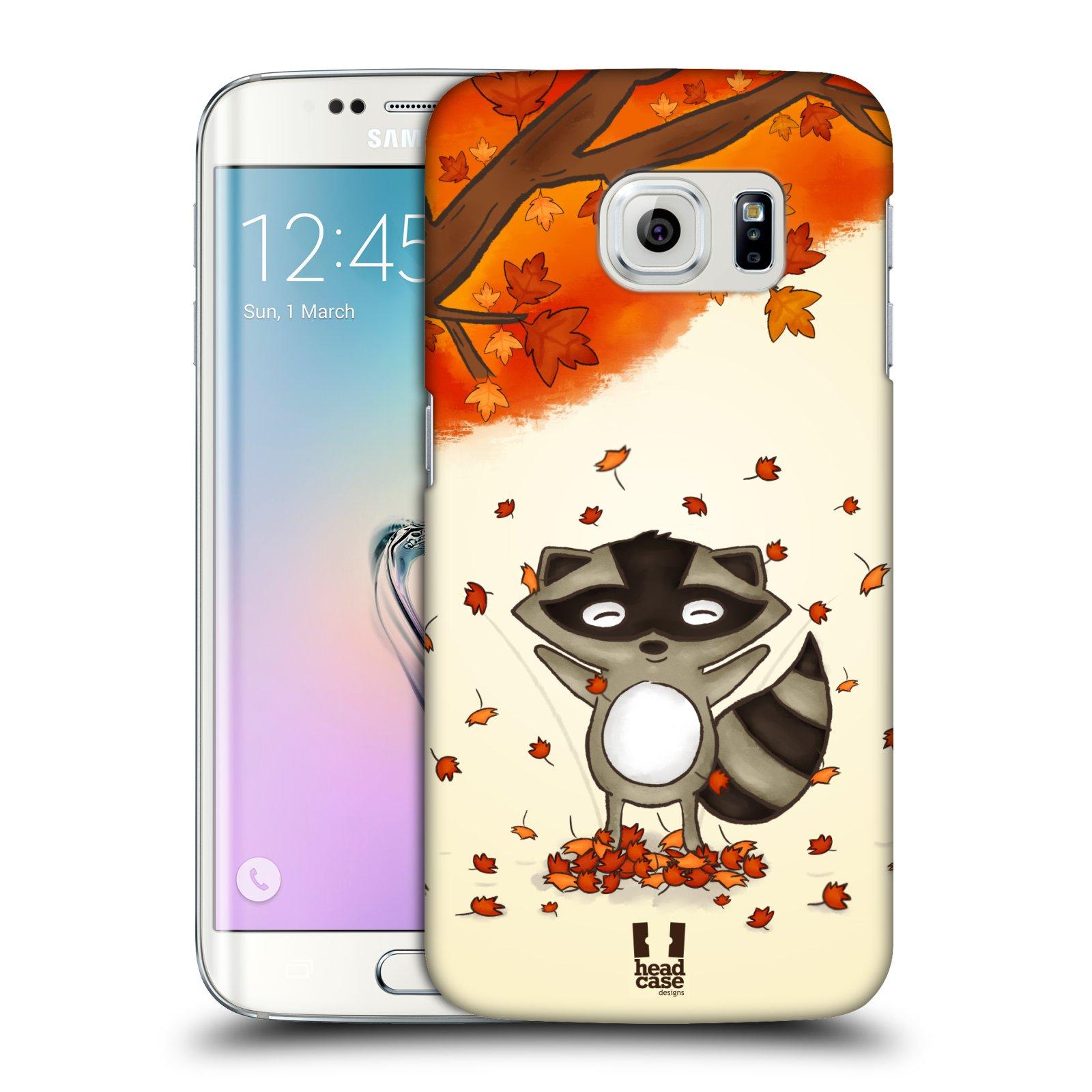 Plastové pouzdro na mobil Samsung Galaxy S6 Edge HEAD CASE PODZIMNÍ MÝVAL