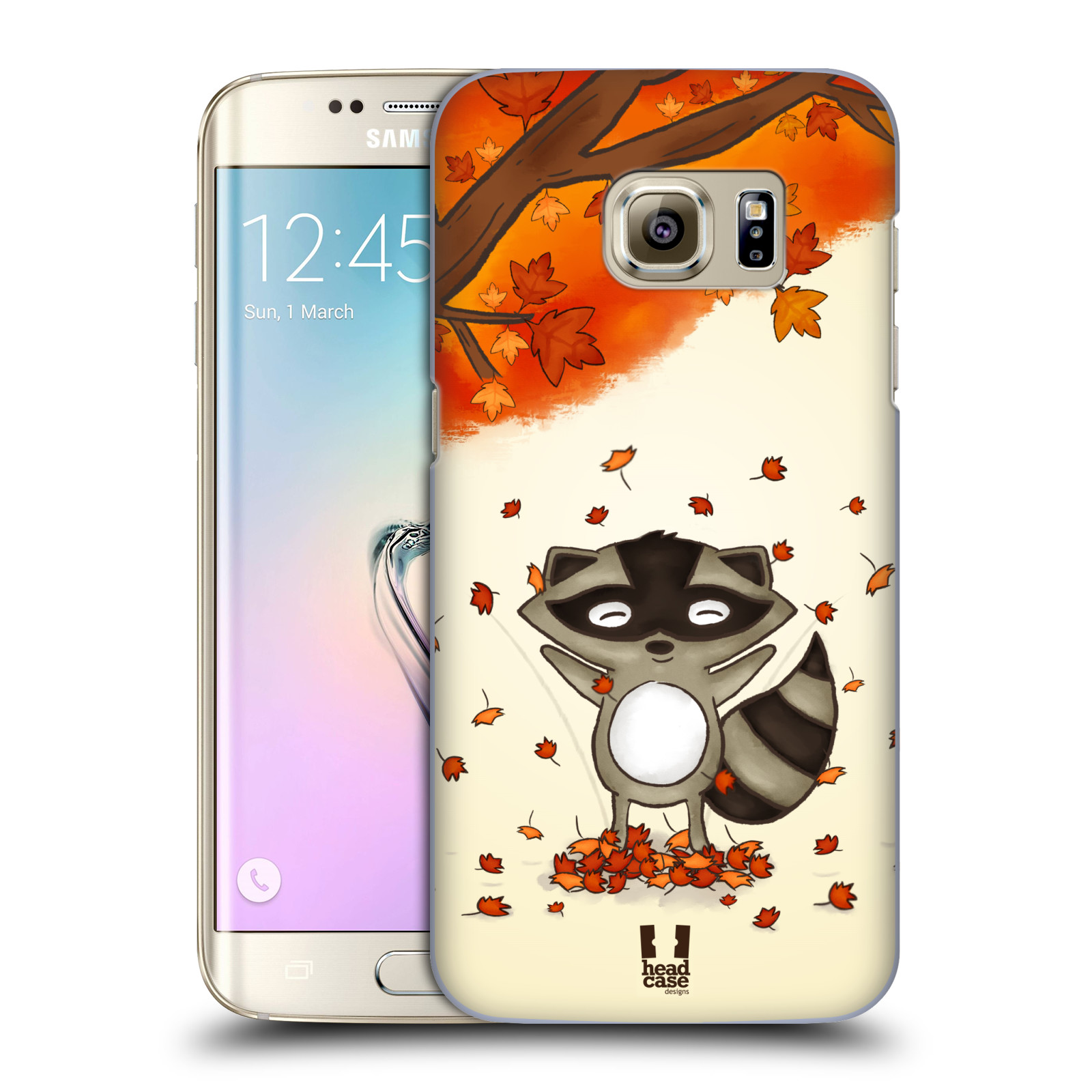 Plastové pouzdro na mobil Samsung Galaxy S7 Edge HEAD CASE PODZIMNÍ MÝVAL