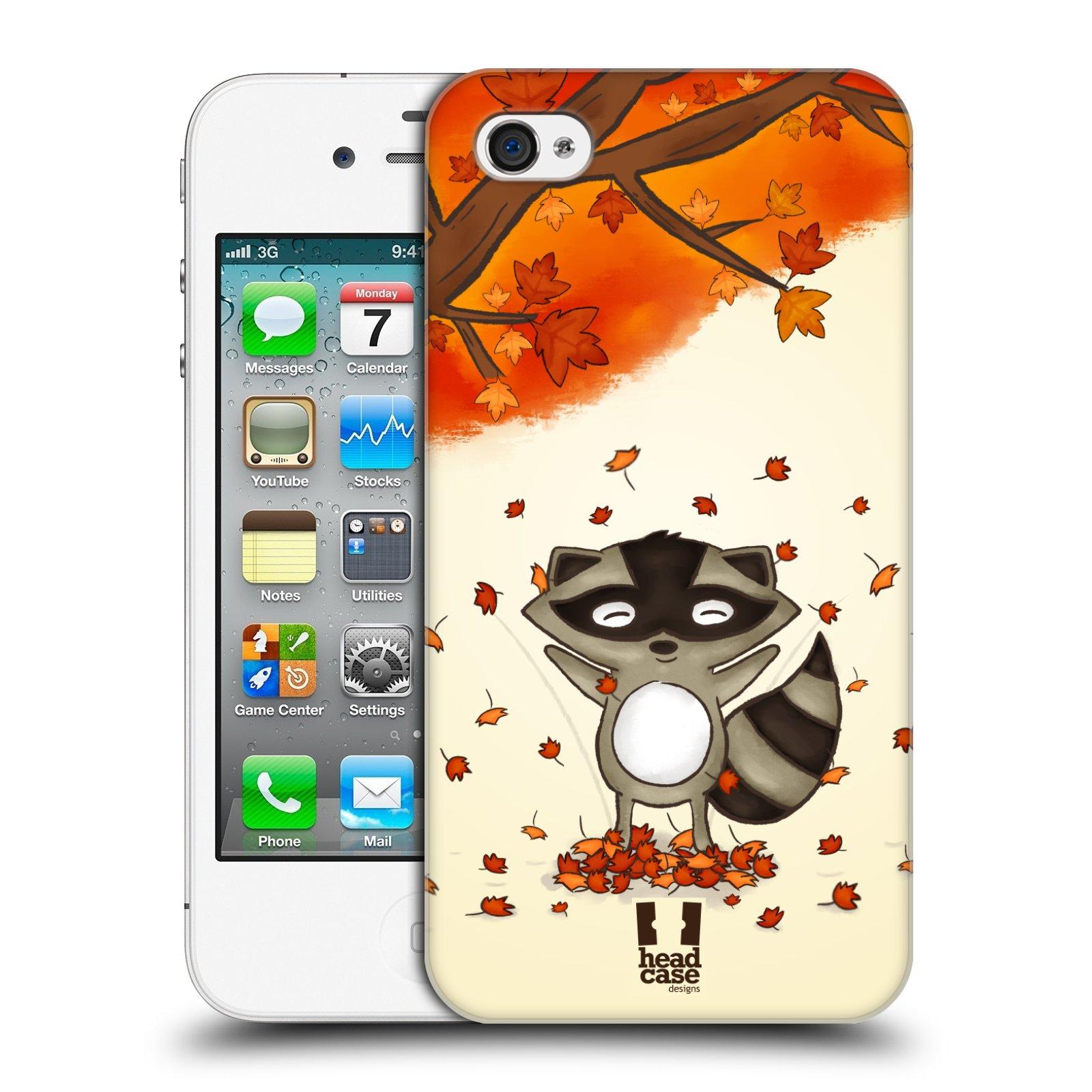 Plastové pouzdro na mobil Apple iPhone 4 a 4S HEAD CASE PODZIMNÍ MÝVAL