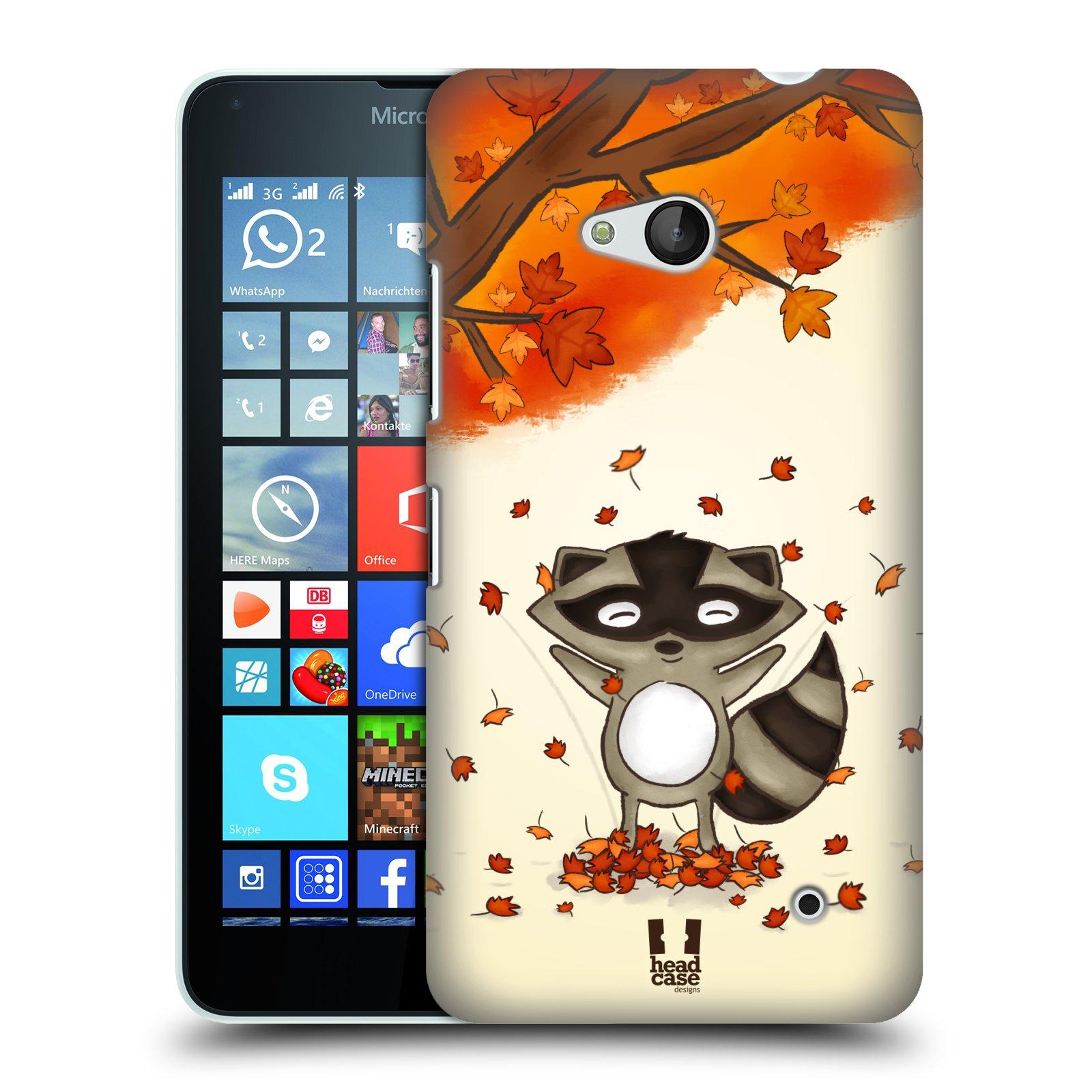 Plastové pouzdro na mobil Microsoft Lumia 640 HEAD CASE PODZIMNÍ MÝVAL