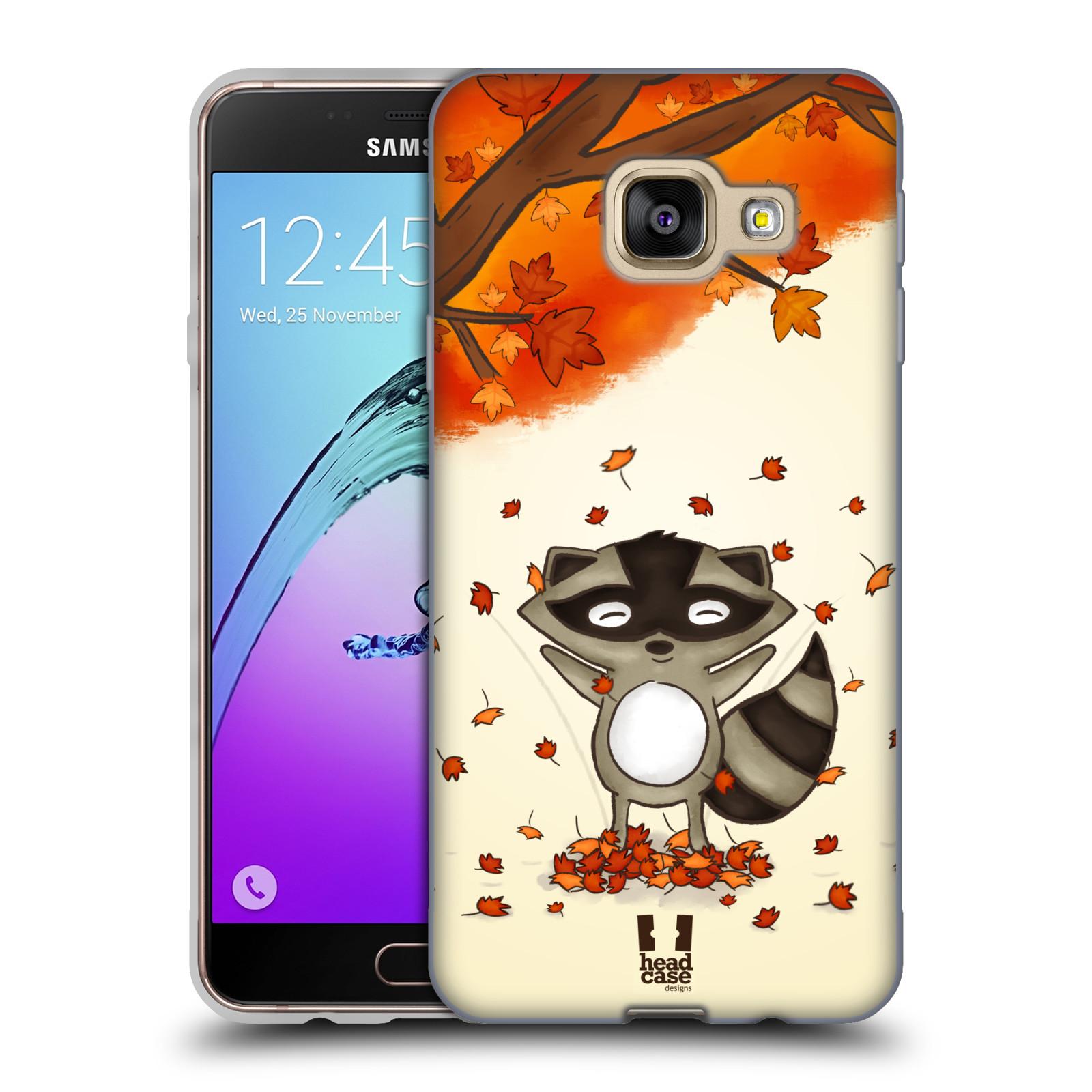 Silikonové pouzdro na mobil Samsung Galaxy A3 (2016) HEAD CASE PODZIMNÍ MÝVAL