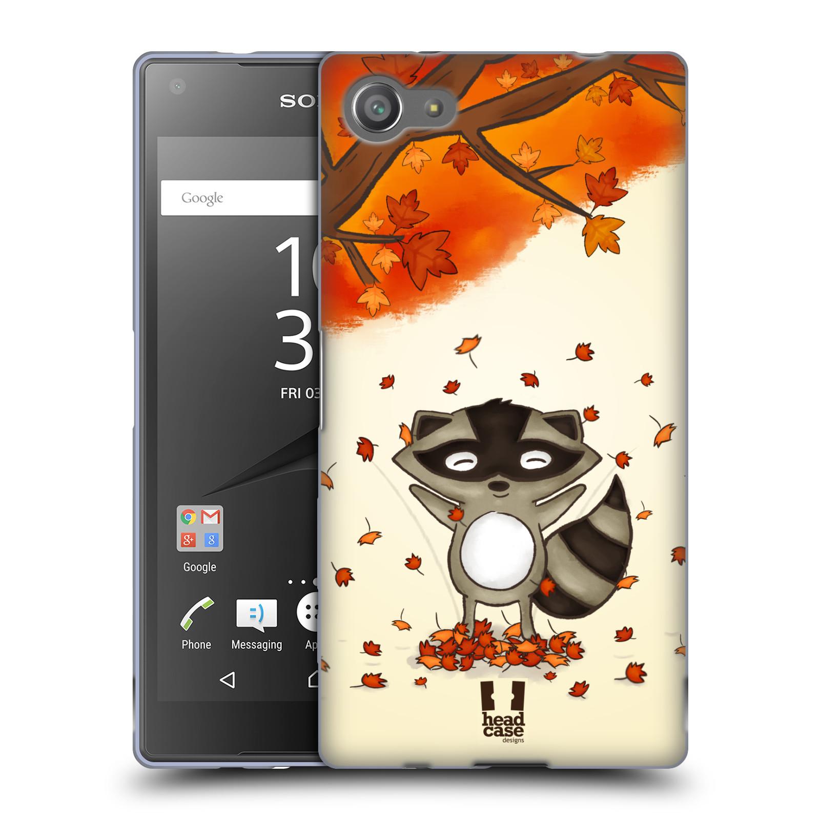 Silikonové pouzdro na mobil Sony Xperia Z5 Compact HEAD CASE PODZIMNÍ MÝVAL