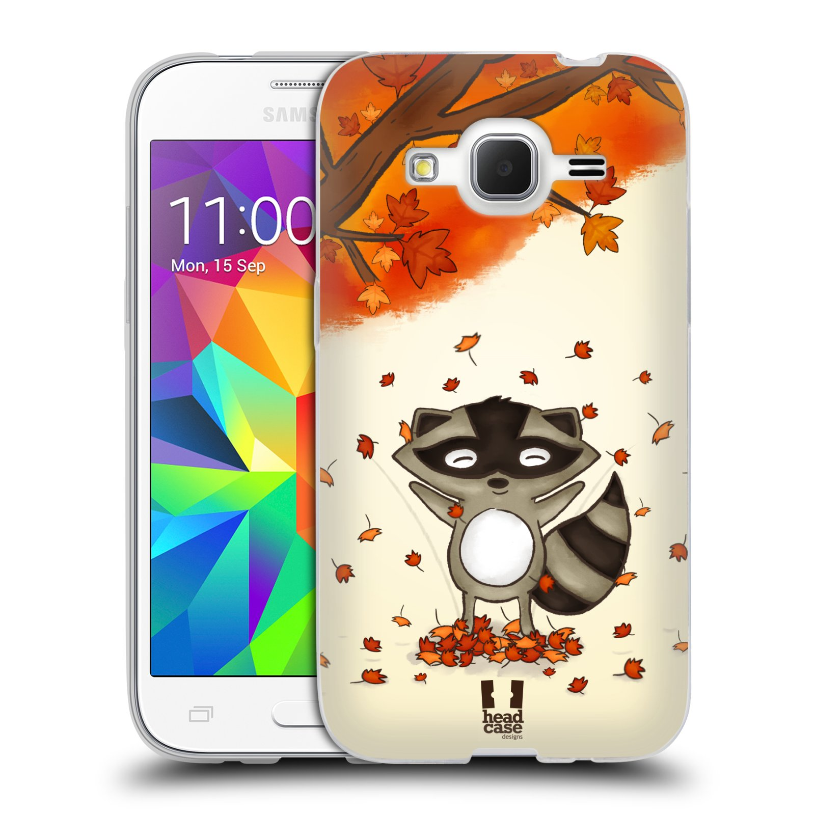 Silikonové pouzdro na mobil Samsung Galaxy Core Prime LTE HEAD CASE PODZIMNÍ MÝVAL