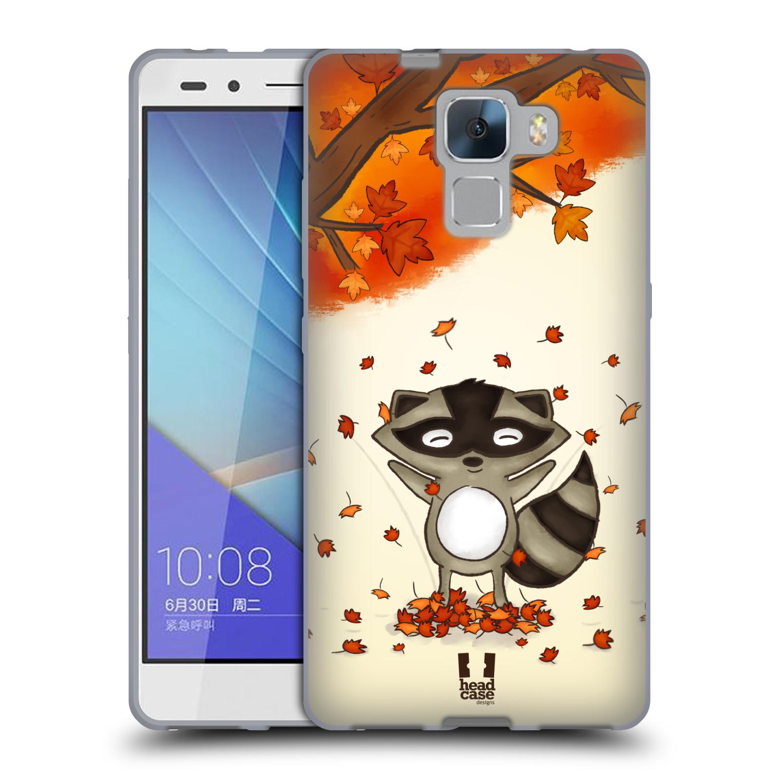 Silikonové pouzdro na mobil Honor 7 HEAD CASE PODZIMNÍ MÝVAL