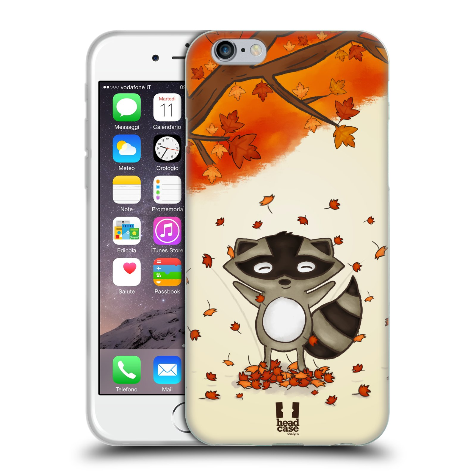 Silikonové pouzdro na mobil Apple iPhone 6 a 6S HEAD CASE PODZIMNÍ MÝVAL