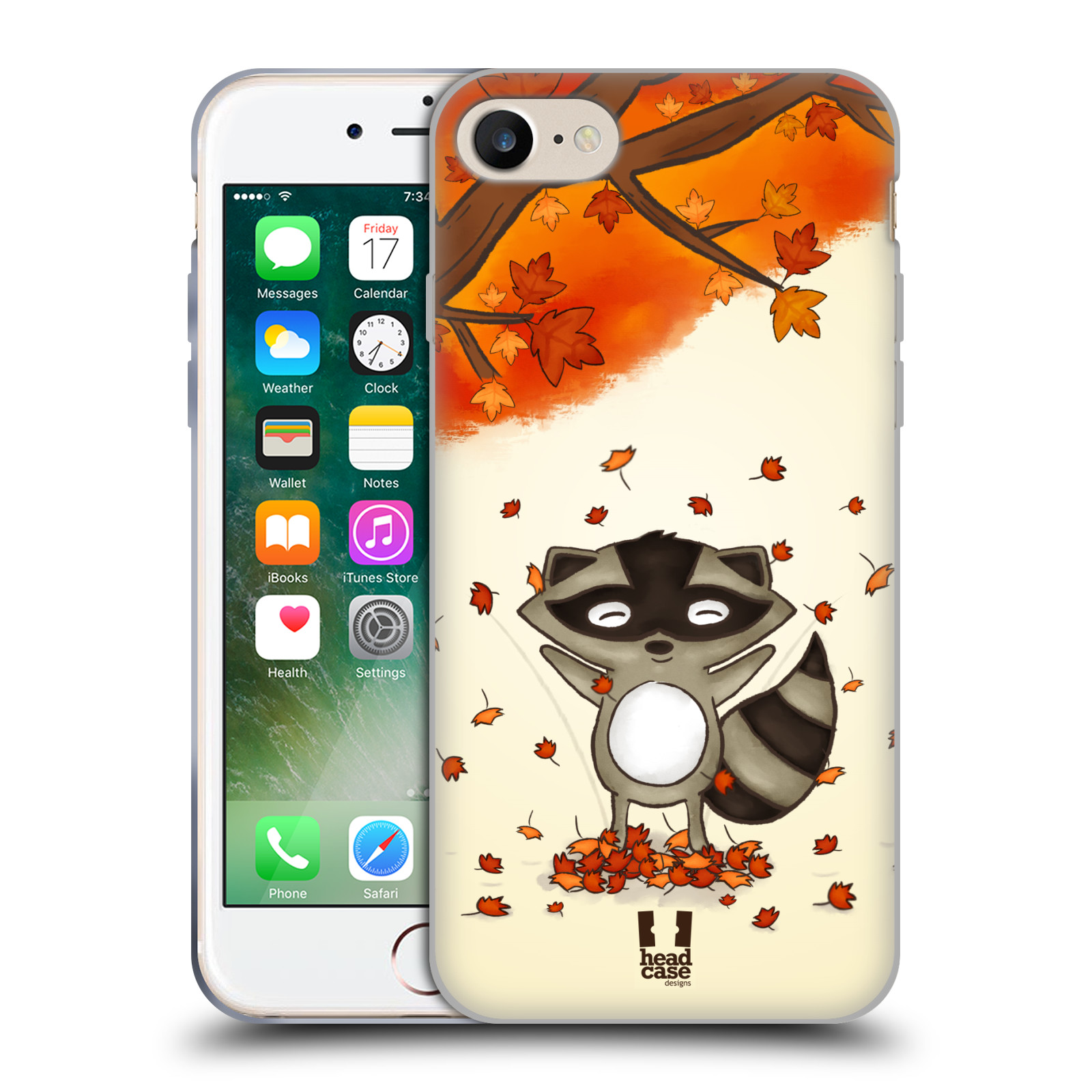 Silikonové pouzdro na mobil Apple iPhone 8 - Head Case - PODZIMNÍ MÝVAL