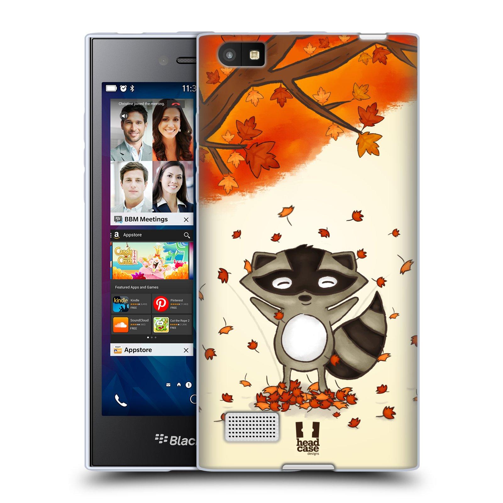 Silikonové pouzdro na mobil Blackberry Leap HEAD CASE PODZIMNÍ MÝVAL