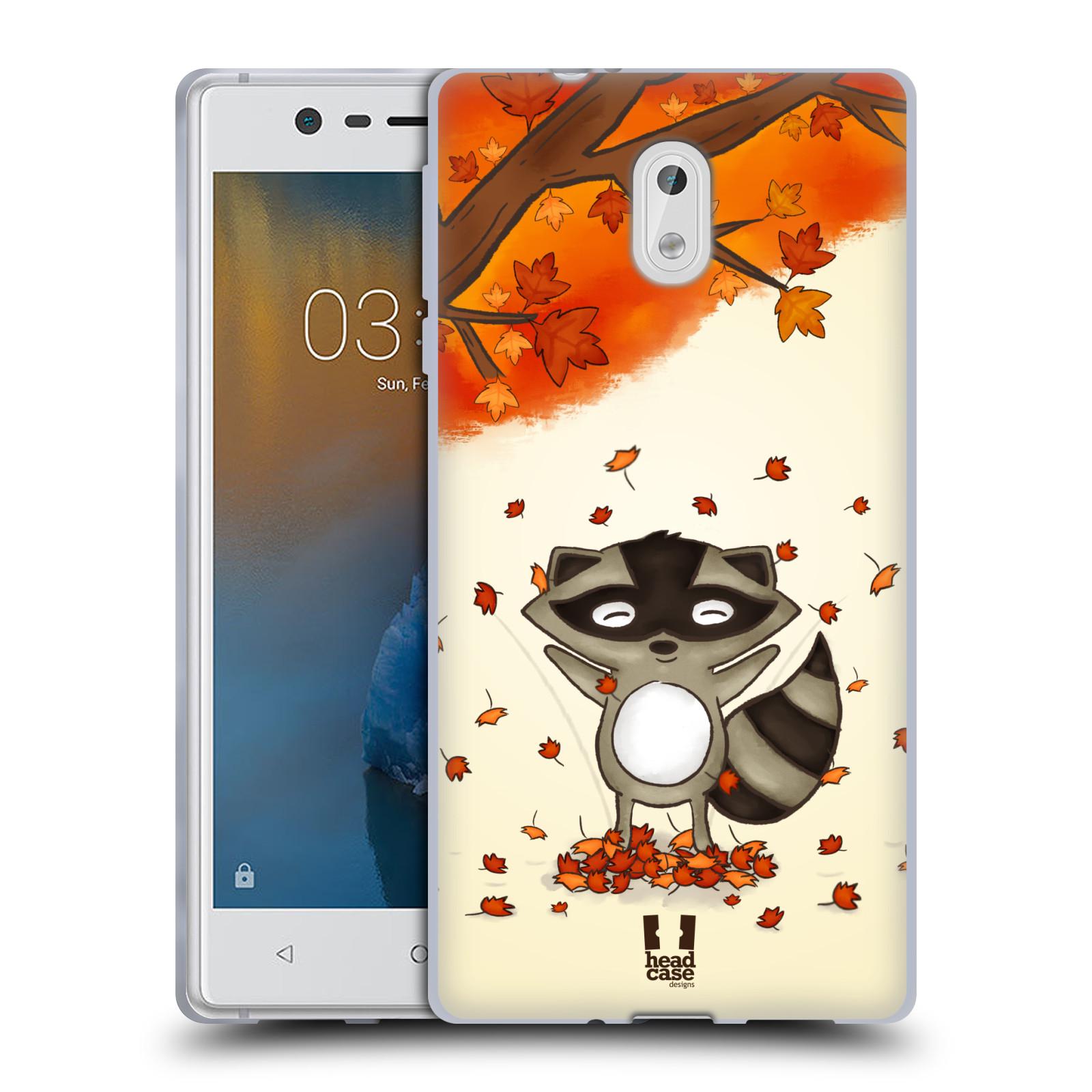 Silikonové pouzdro na mobil Nokia 3 Head Case - PODZIMNÍ MÝVAL