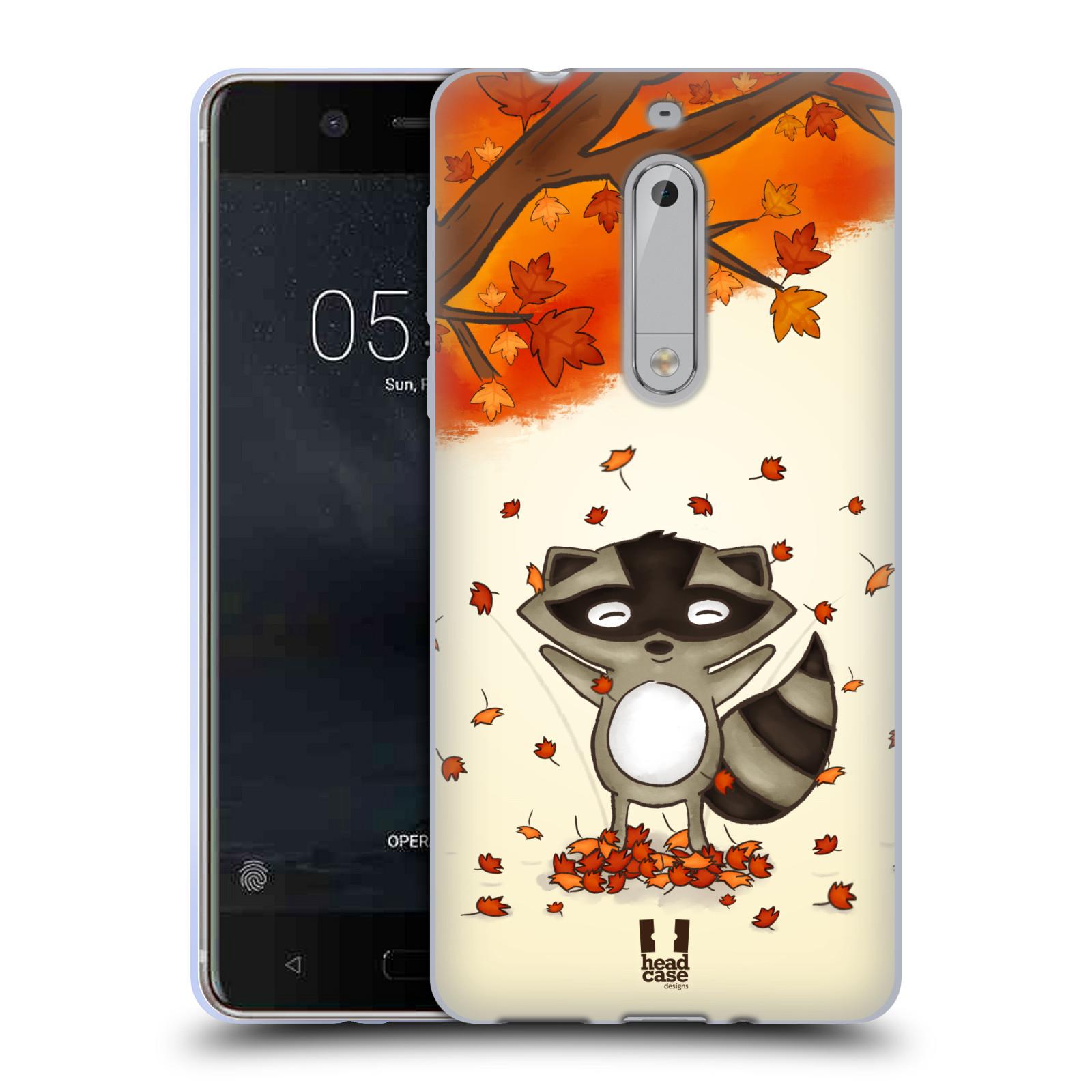 Silikonové pouzdro na mobil Nokia 5 Head Case - PODZIMNÍ MÝVAL