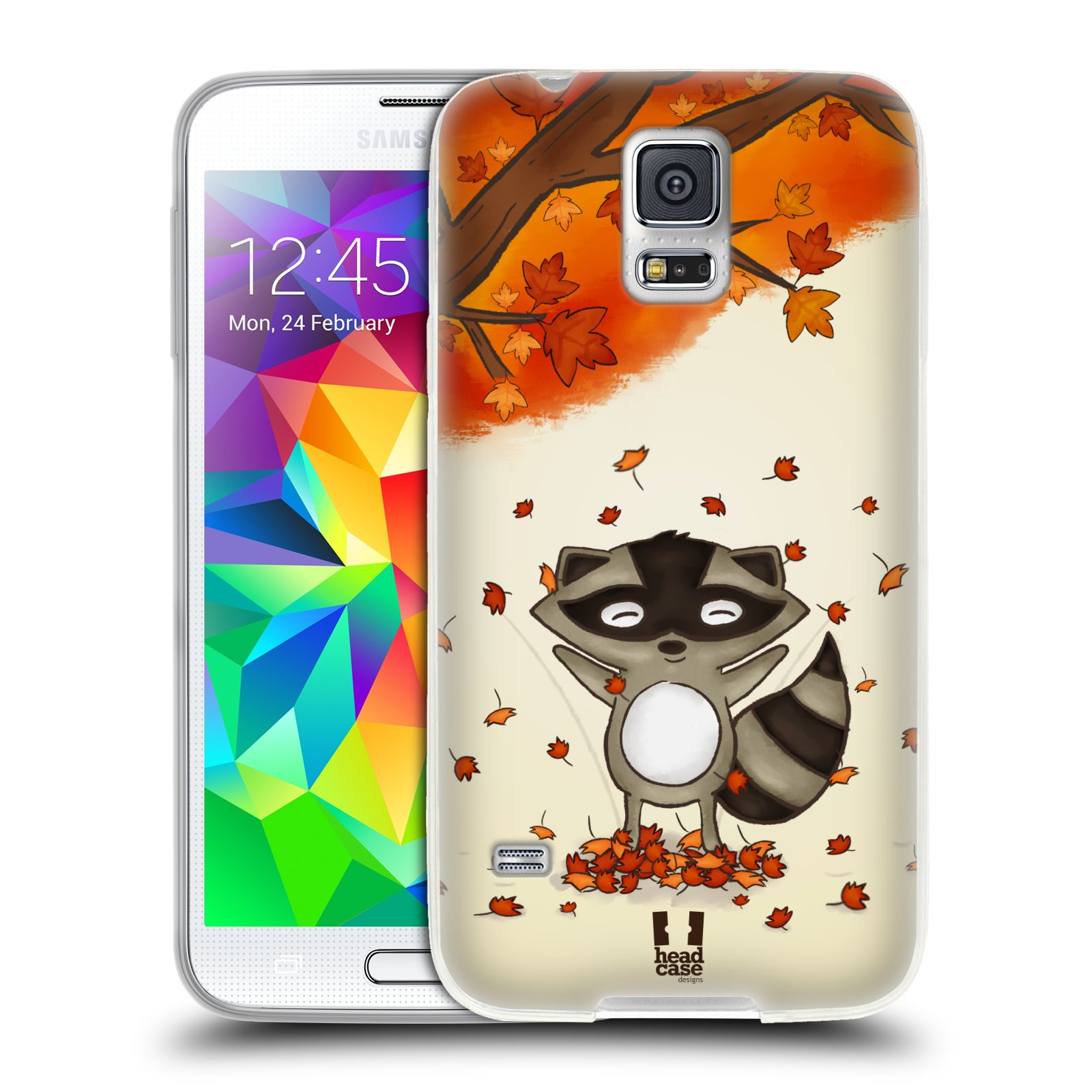 Silikonové pouzdro na mobil Samsung Galaxy S5 HEAD CASE PODZIMNÍ MÝVAL