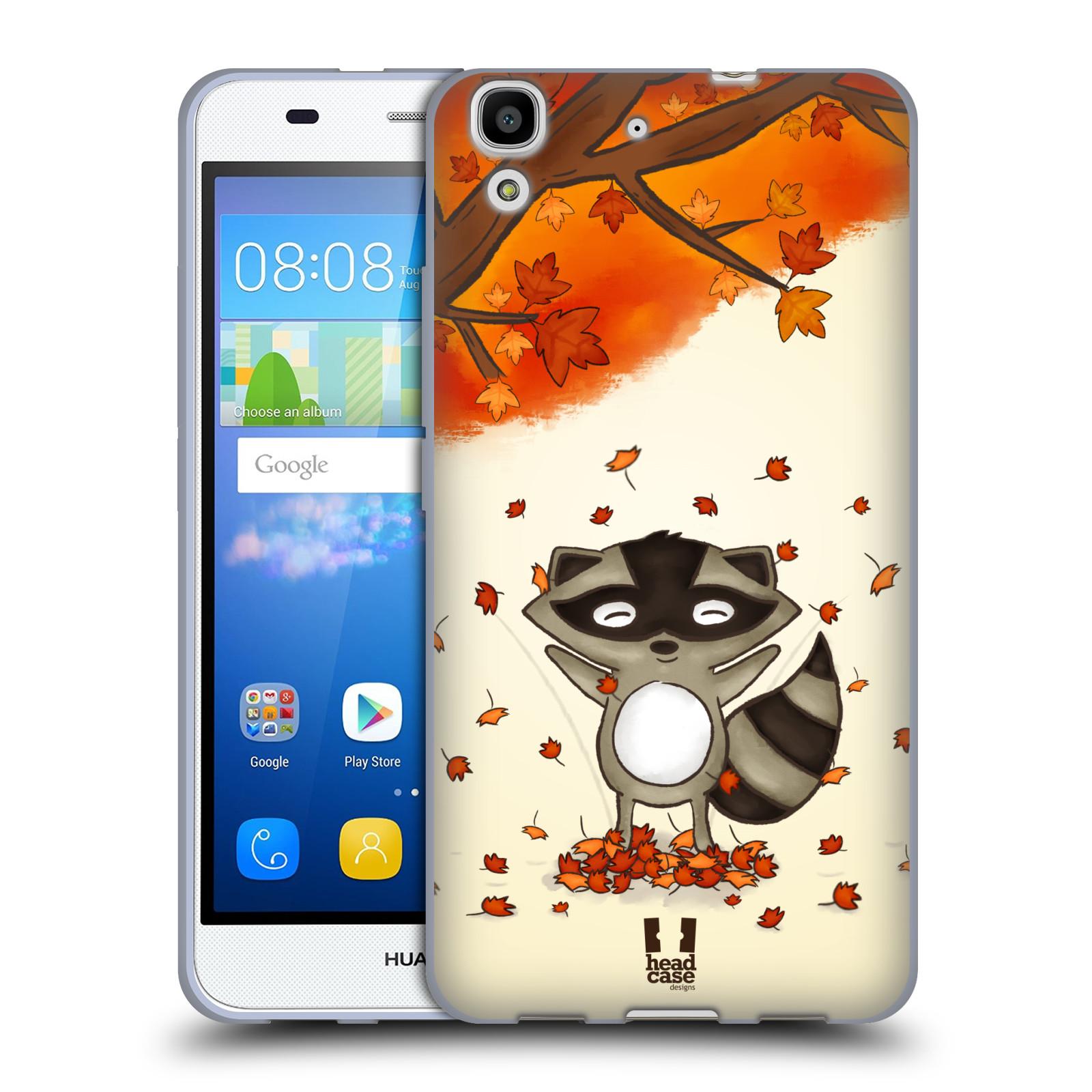 Silikonové pouzdro na mobil Huawei Y6 HEAD CASE PODZIMNÍ MÝVAL