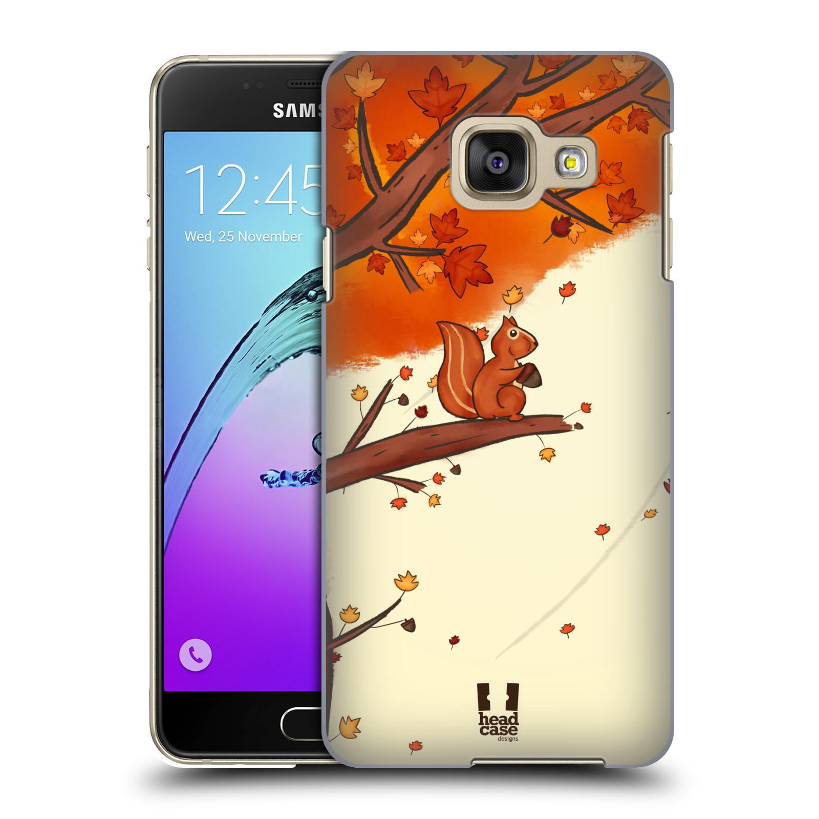 Plastové pouzdro na mobil Samsung Galaxy A3 (2016) HEAD CASE PODZIMNÍ VEVERKA
