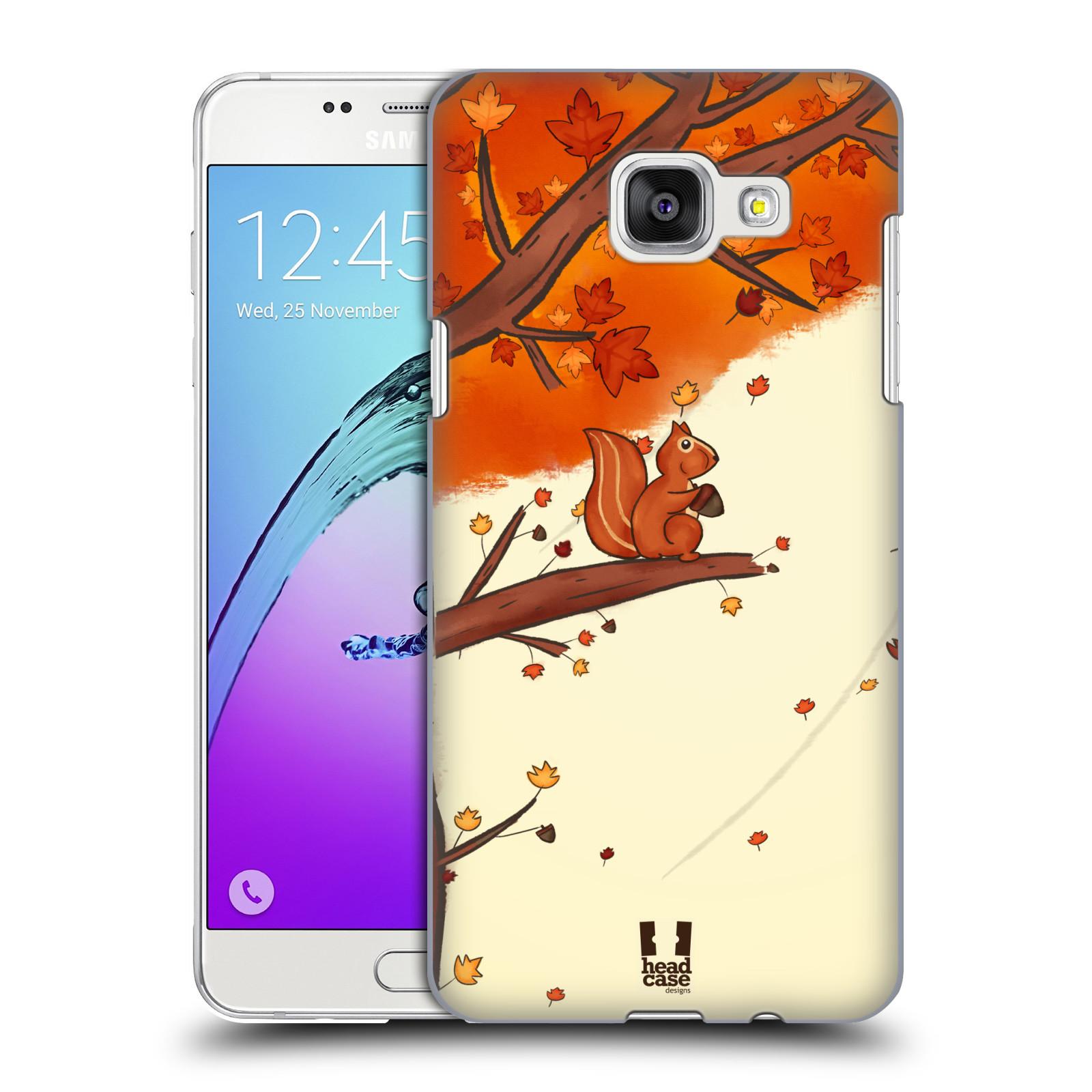 Plastové pouzdro na mobil Samsung Galaxy A5 (2016) HEAD CASE PODZIMNÍ VEVERKA