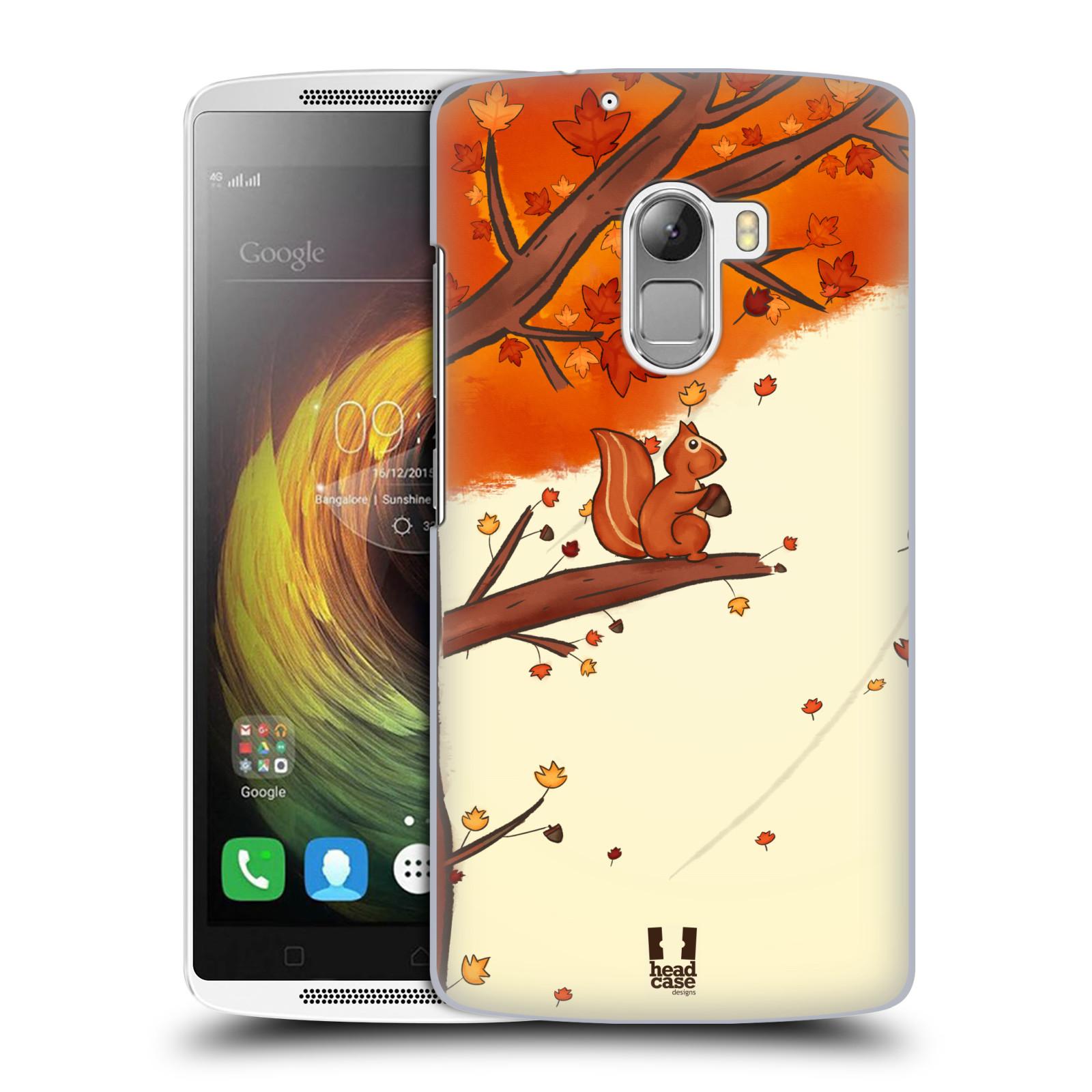 Plastové pouzdro na mobil Lenovo A7010 HEAD CASE PODZIMNÍ VEVERKA